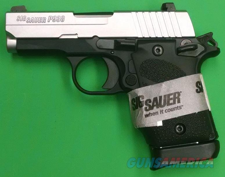 Sig Sauer P938 BRG 2-Tone 9mm Single Stack Pistol  938-9-TSS-BRG-AMBI  798681539208  Guns > Pistols > Sig - Sauer/Sigarms Pistols > Other