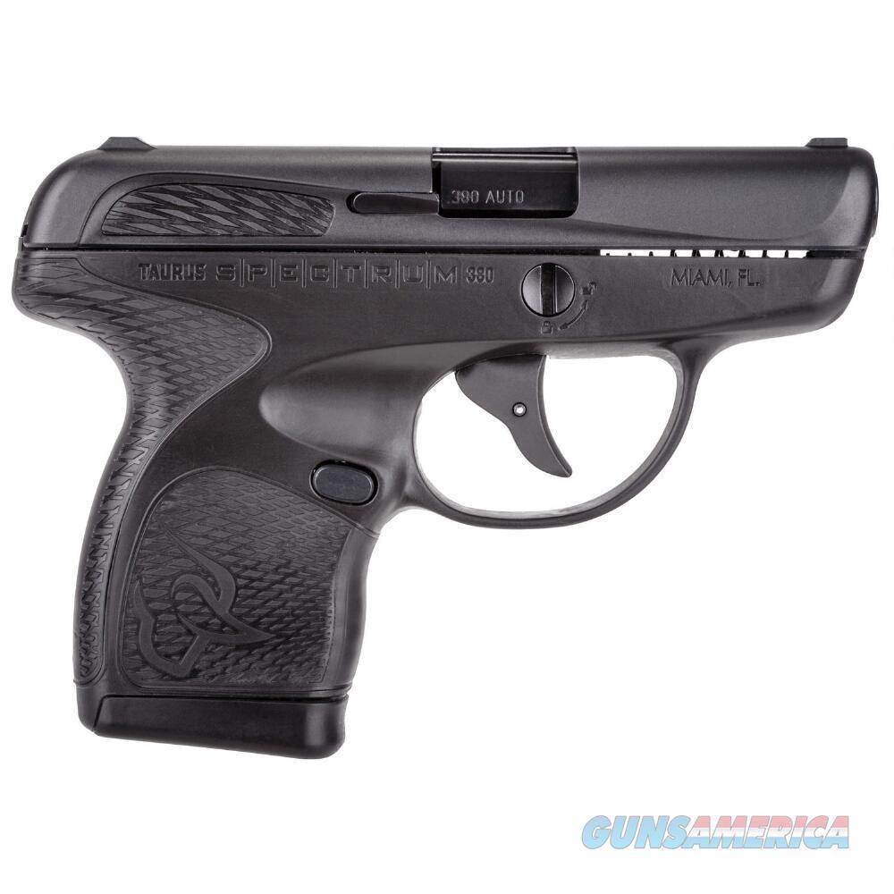 "Taurus Spectrum Semi Auto Pistol .380 ACP 2.8"" Barrel 6/7 Round Magazines Low Profile Fixed Sights Polymer Frame Matte Black  1007031101  725327613787  Guns > Pistols > Taurus Pistols > Semi Auto Pistols > Polymer Frame"