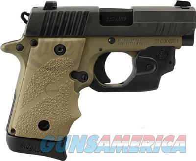 "Sig Sauer P238 Combat Pistol w/ laser 380 ACP, 2.7"", FDE Rubber Grips, FDE Finish, 6/7 Rds 238-380-CBT-LSR 798681585113  Guns > Pistols > Sig - Sauer/Sigarms Pistols > P238"