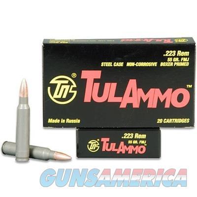 TulAmmo .223 Rem 55 Grain FMJ 1000 Round Case TA223550  Non-Guns > Ammunition