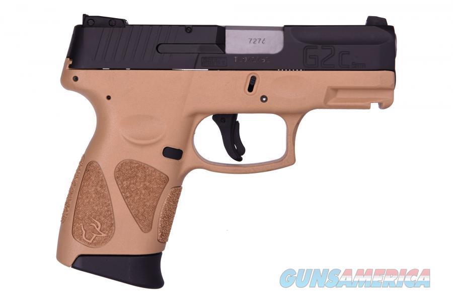 Taurus G2C Compact 9MM Pistol, 3.2 Barrel, Two 12rd Mags, FDE Frame, Black Slide – Taurus 1-G2C931-12T 725327616085  Guns > Pistols > Taurus Pistols > Semi Auto Pistols > Polymer Frame