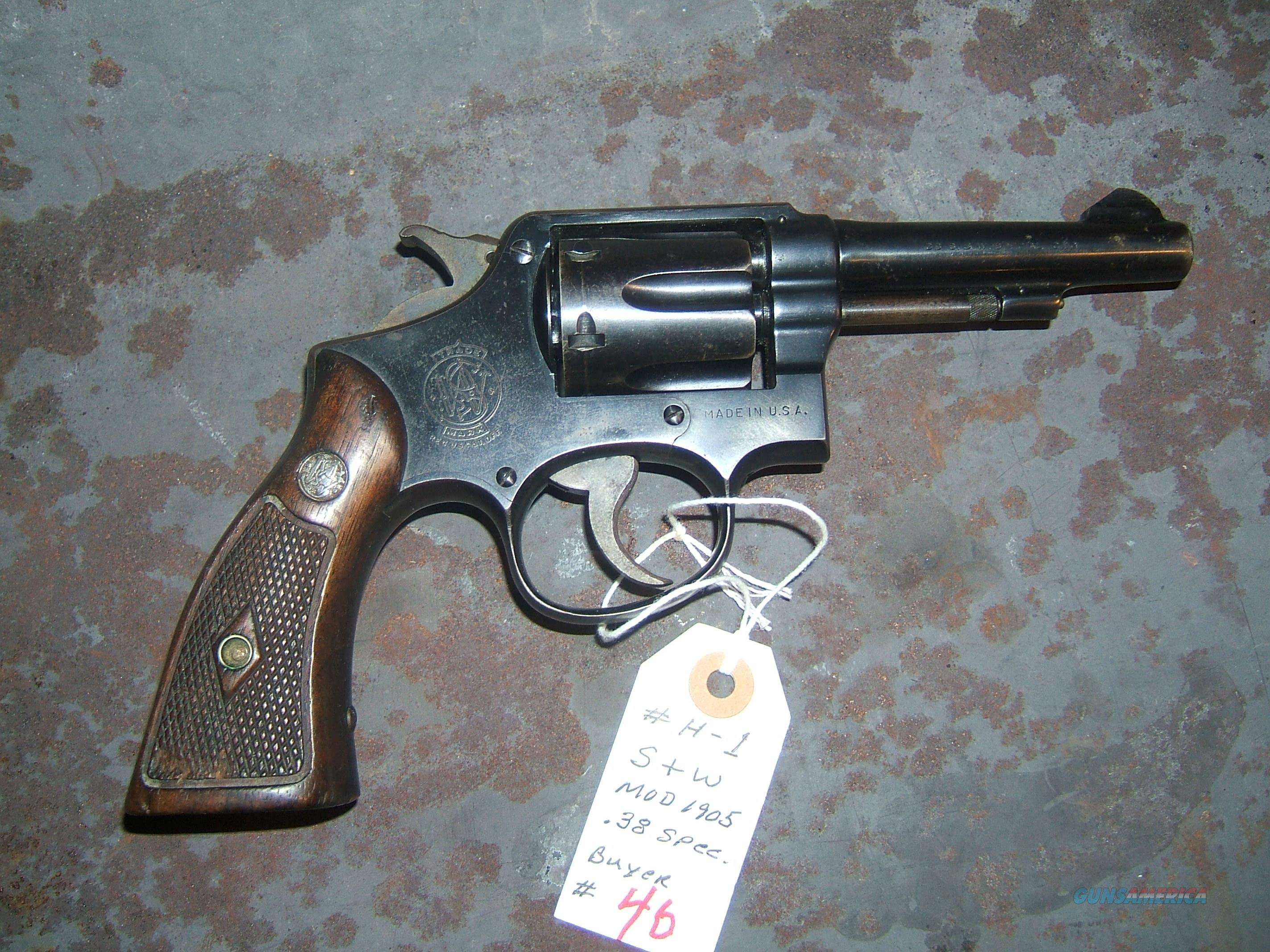 Smith & Wesson  Military Police Model. 1905 .38 special  Guns > Pistols > Smith & Wesson Revolvers > Pre-1945