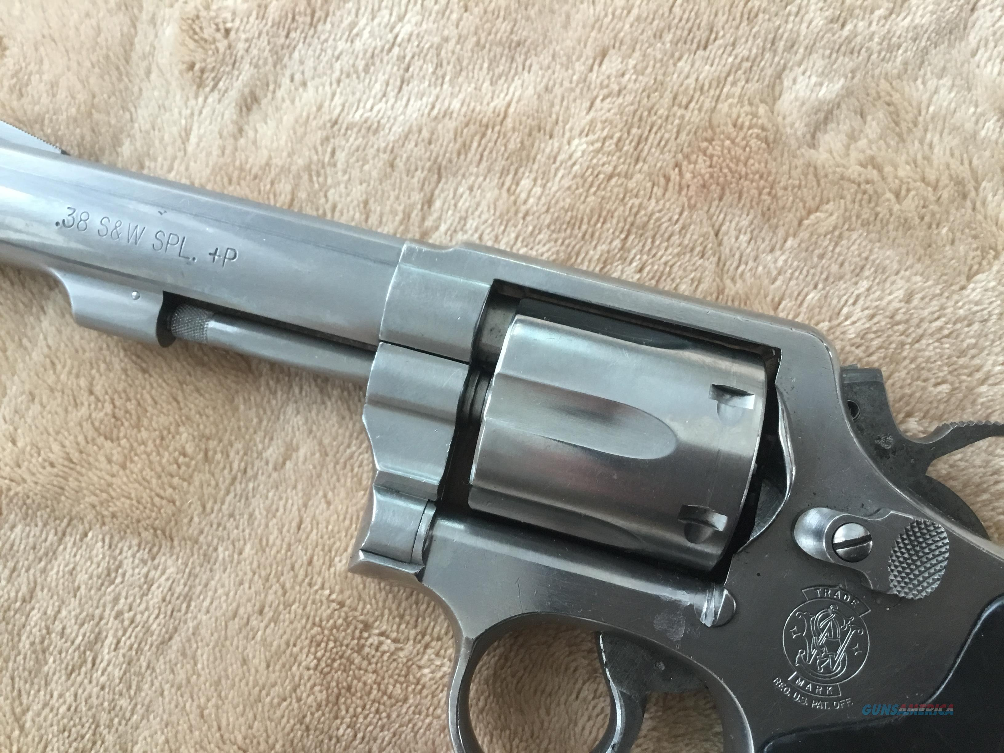 "Smith & Wesson Model 64 .38sp+P Stainless Steel Revolver, 4"" barrel  Guns > Pistols > Smith & Wesson Revolvers > Med. Frame ( K/L )"