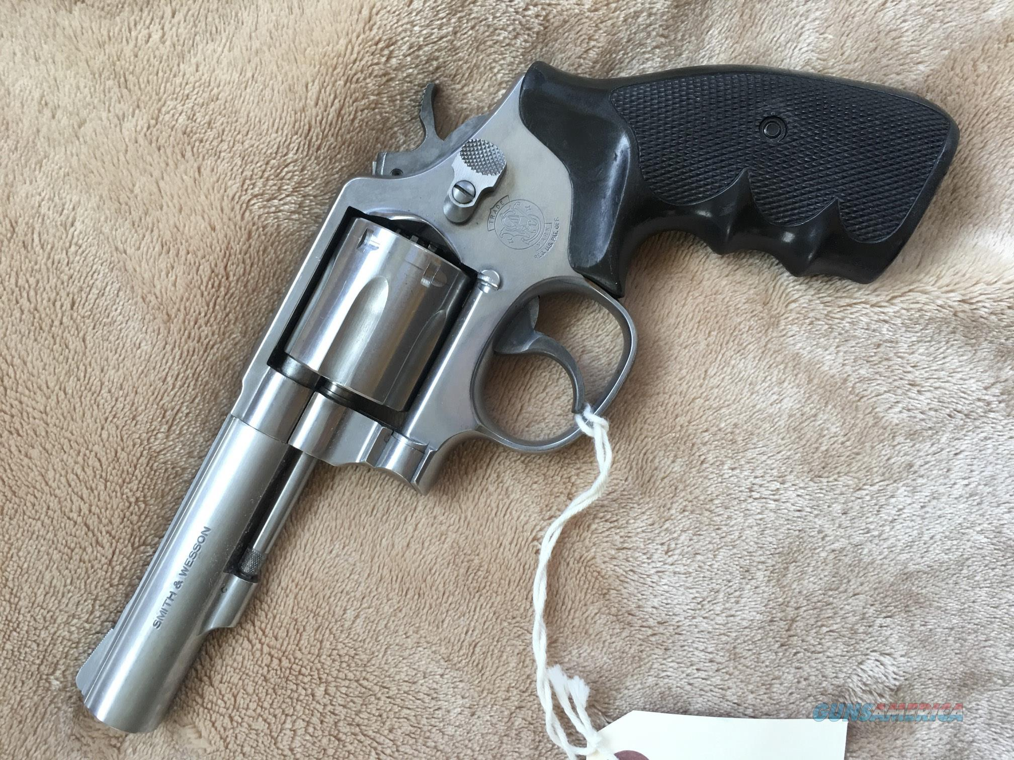 "Smith & Wesson Model 64 .38sp Stainless Steel  Revolver, 4"" barrel  Guns > Pistols > Smith & Wesson Revolvers > Med. Frame ( K/L )"