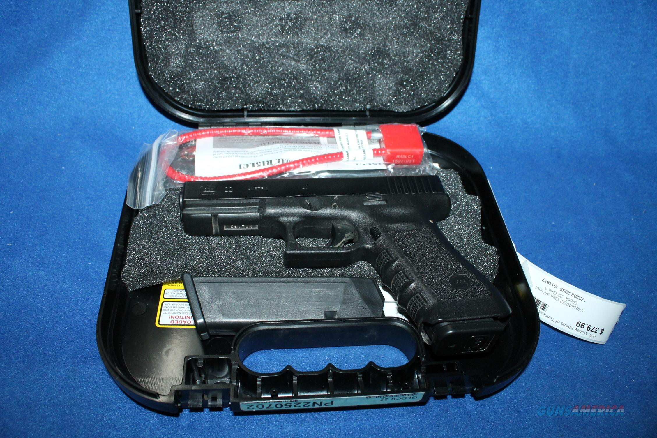 Glock 22 gen 3 .40s&w used two 15rnd mags NO CC FEES NO RESERVE  Guns > Pistols > Glock Pistols > 22