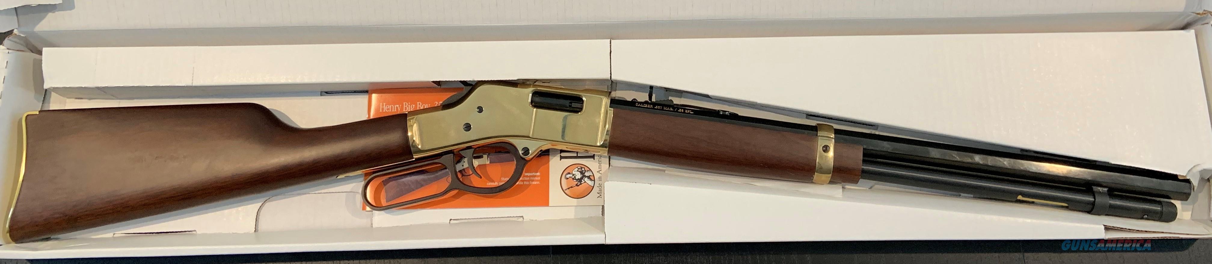 Henry Big Boy Brass 357 Mag 20In Octagon  Guns > Rifles > Henry Rifle Company