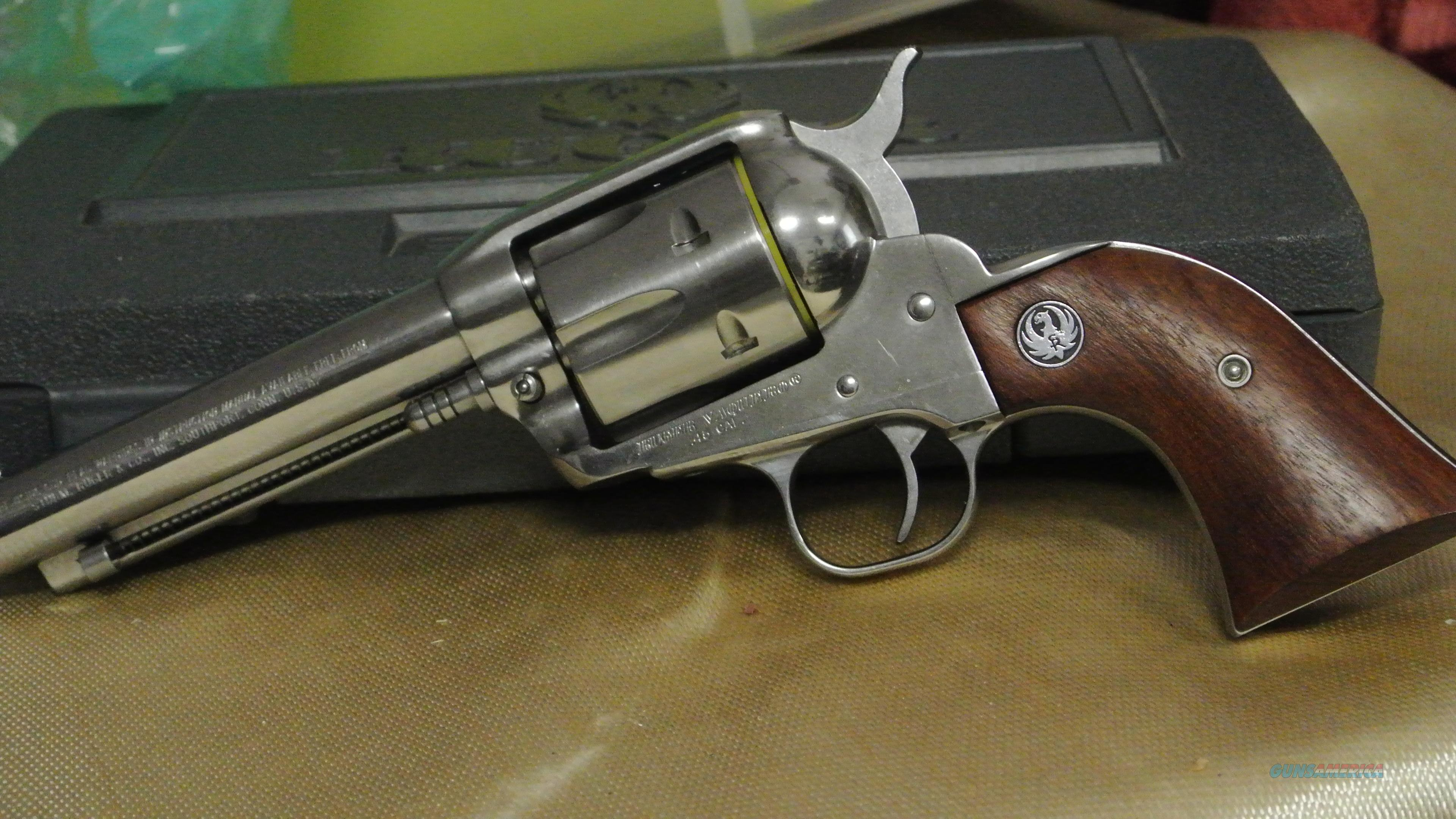 Old Model Ruger Vaquero, Stainless with a 5 1/2 inch barrel  Guns > Pistols > Ruger Single Action Revolvers > Cowboy Action