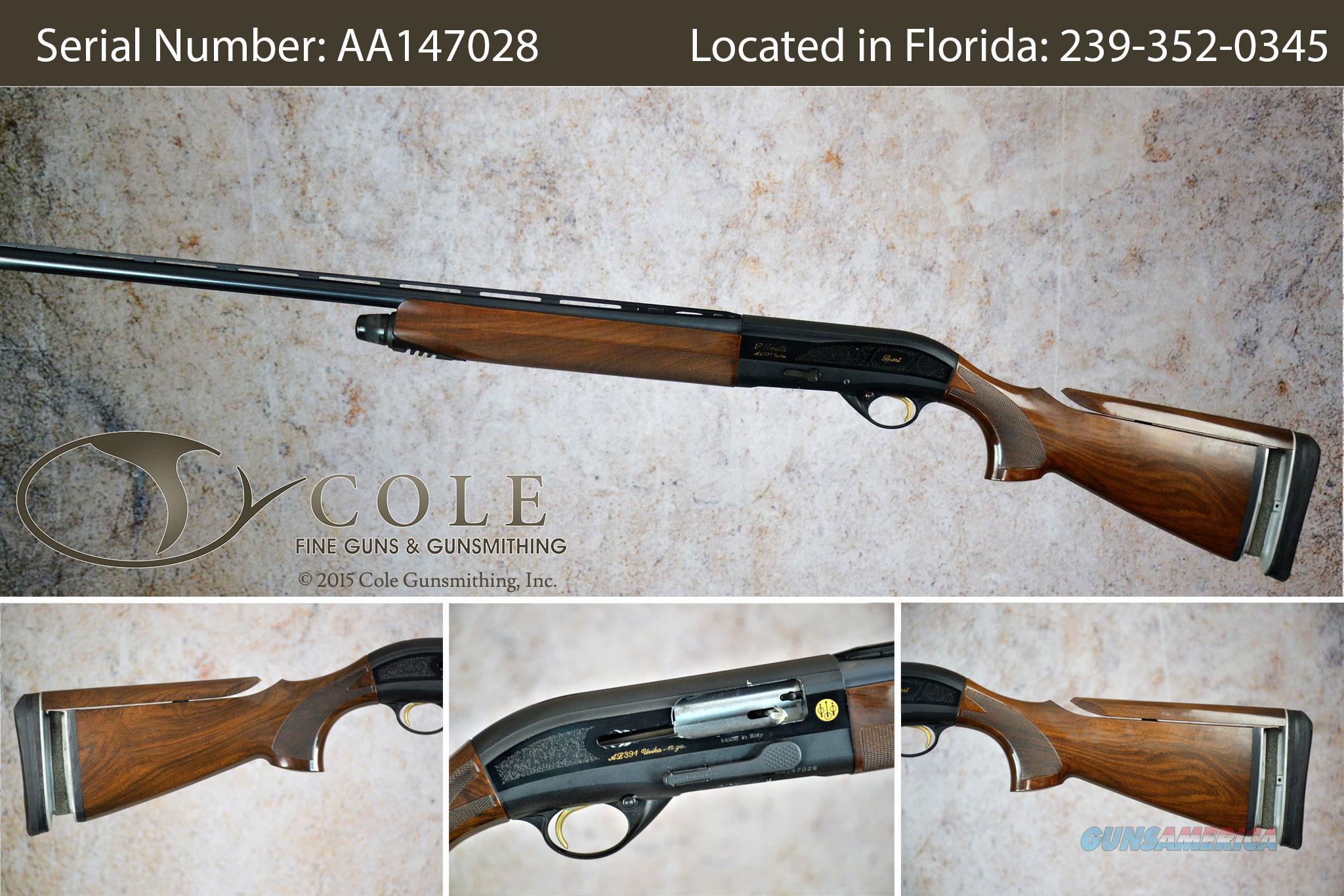 "Beretta 391 Urika Sporting 12g 30"" SN:#AA147028~~Pre-Owned~~  Guns > Shotguns > Beretta Shotguns > Single Barrel"