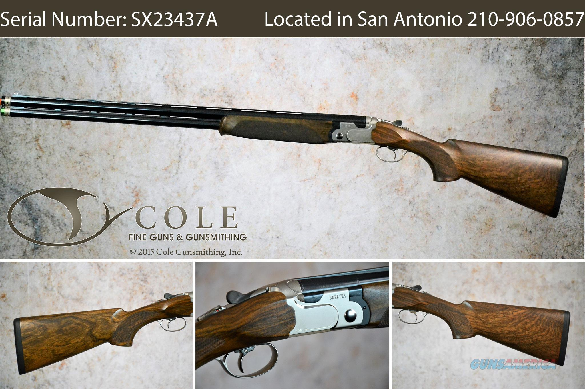 """Beretta 692 Sporting 12g 30"""" SN:#SX23437A~~At Our San Antonio Store~~  Guns > Shotguns > Beretta Shotguns > O/U > Trap/Skeet"""