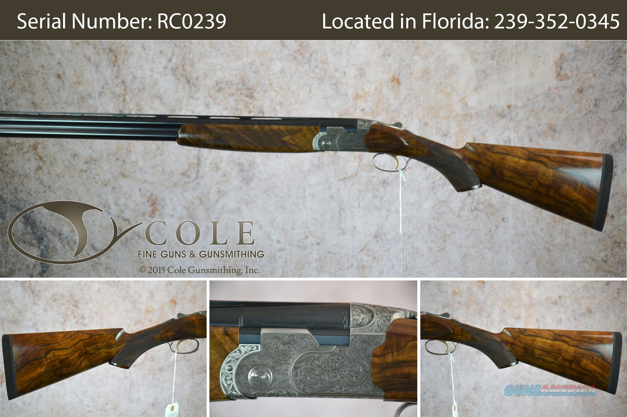 "Beretta 687 Cole Custom 12ga 30"" SN:RC0239  Guns > Shotguns > Beretta Shotguns > O/U > Trap/Skeet"