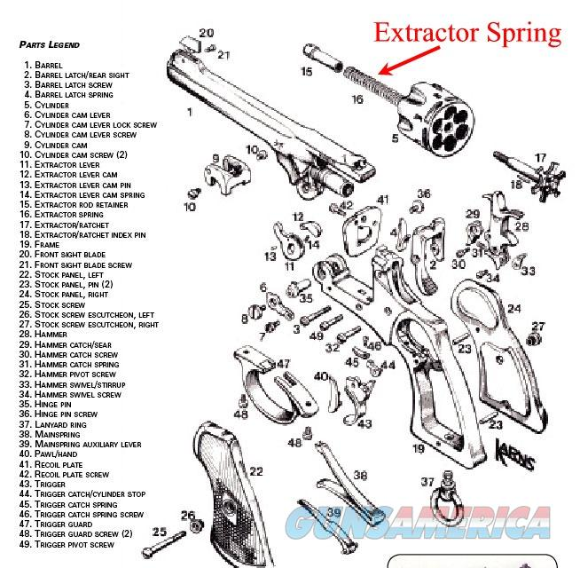 webley mark vi extractor spring  new manufactur    for sale