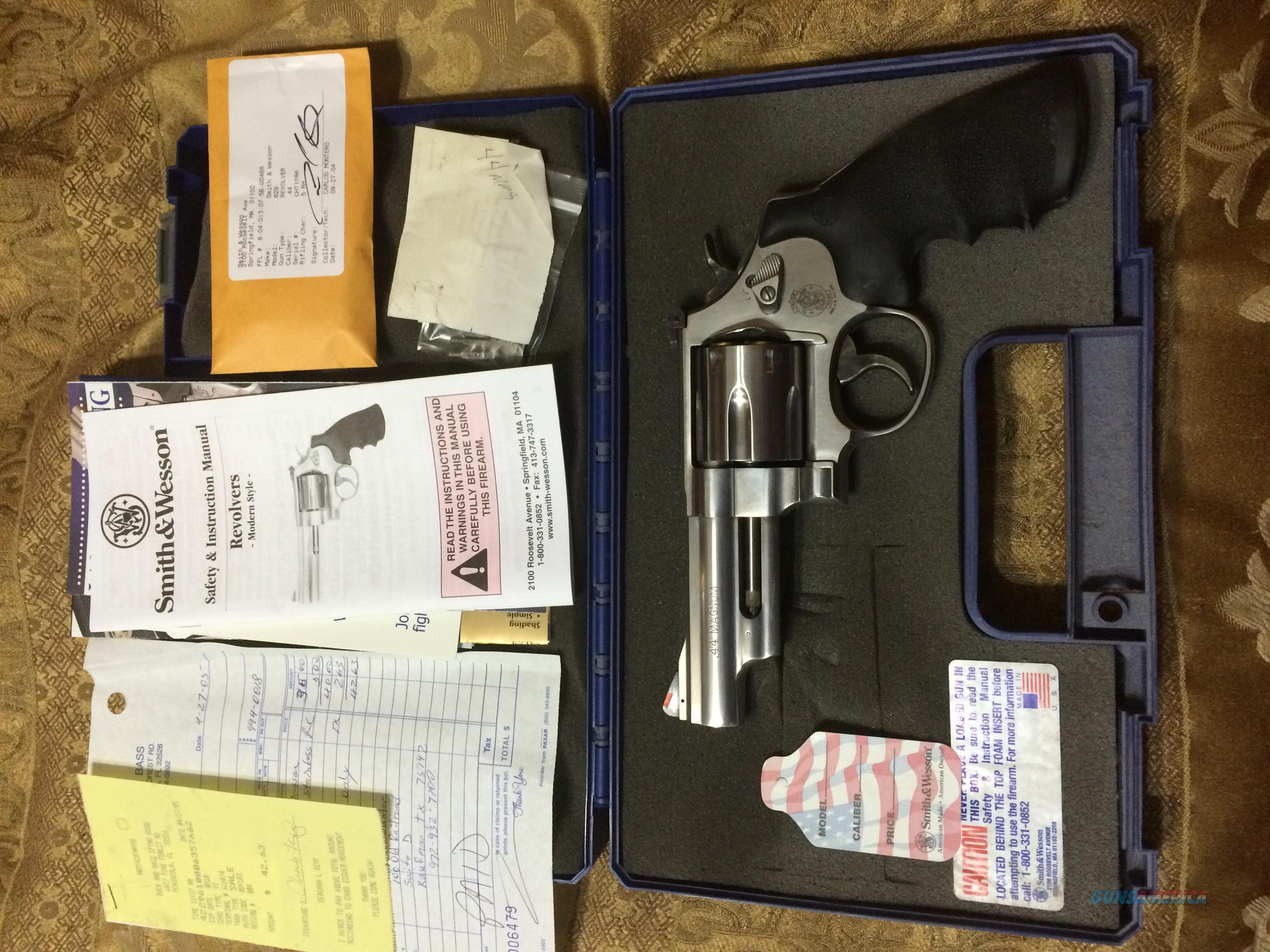 S&W Model 629 4 inch 44Mag  Guns > Pistols > Smith & Wesson Revolvers > Model 629