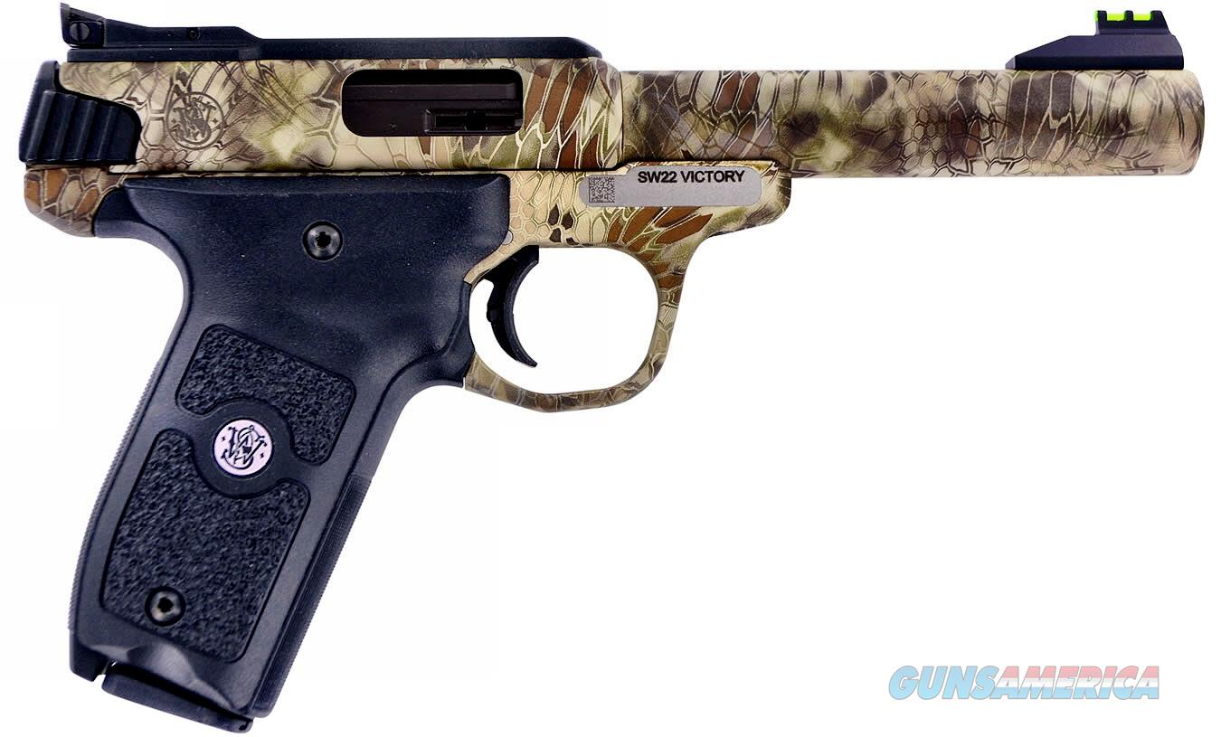 "Smith & Wesson Victory 22LR Special Edition Kryptek Highlander Camo w/Fiber Optic Sights 5.5"" 10+1!  Guns > Pistols > Smith & Wesson Pistols - Autos > .22 Autos"