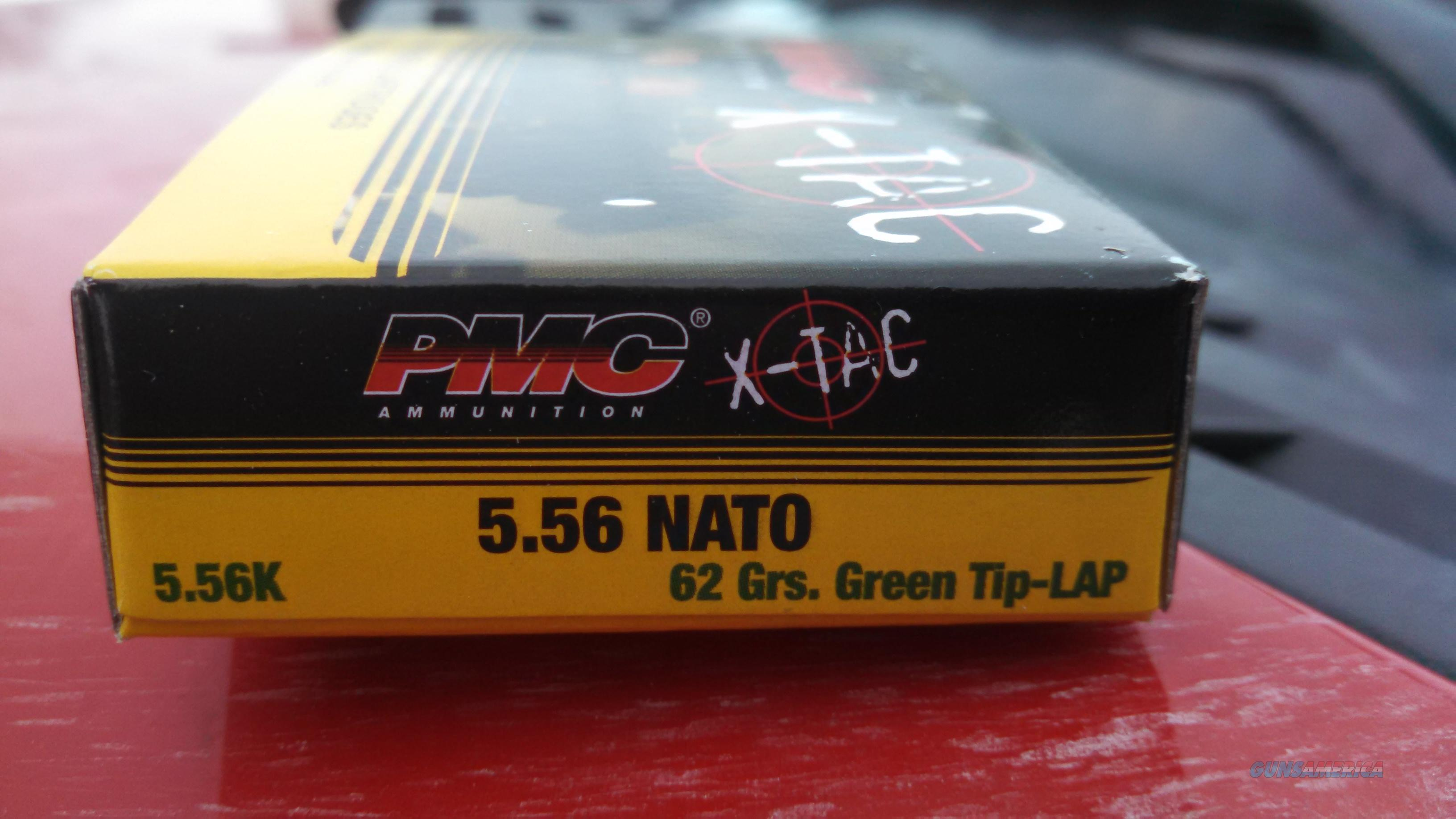 6 Boxes PMC X-Tac 62 grain Green Tip 556 ammo  Non-Guns > Ammunition