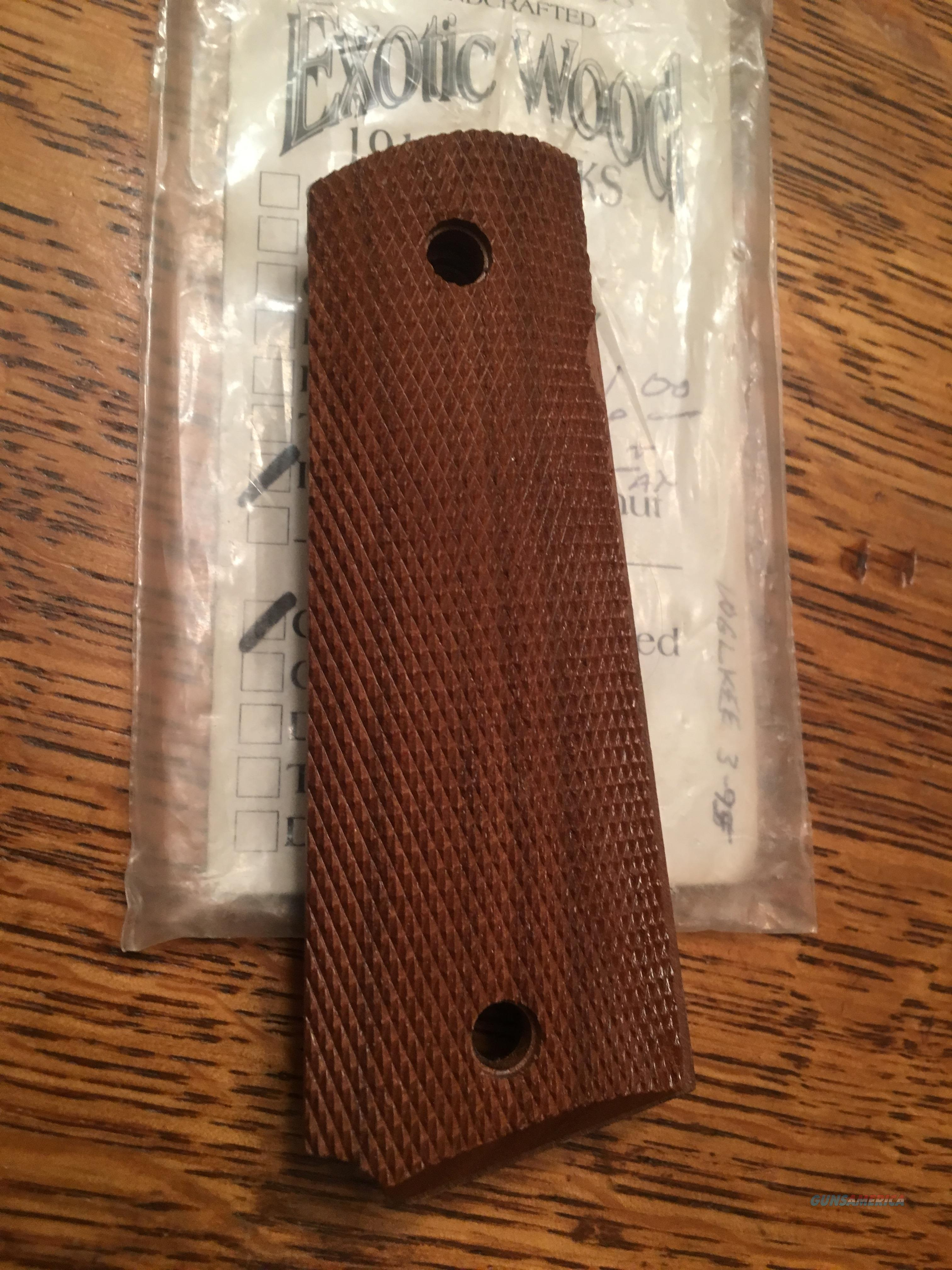 1911 BLACK WALNUT WOOD GRIPS   Non-Guns > Gunstocks, Grips & Wood