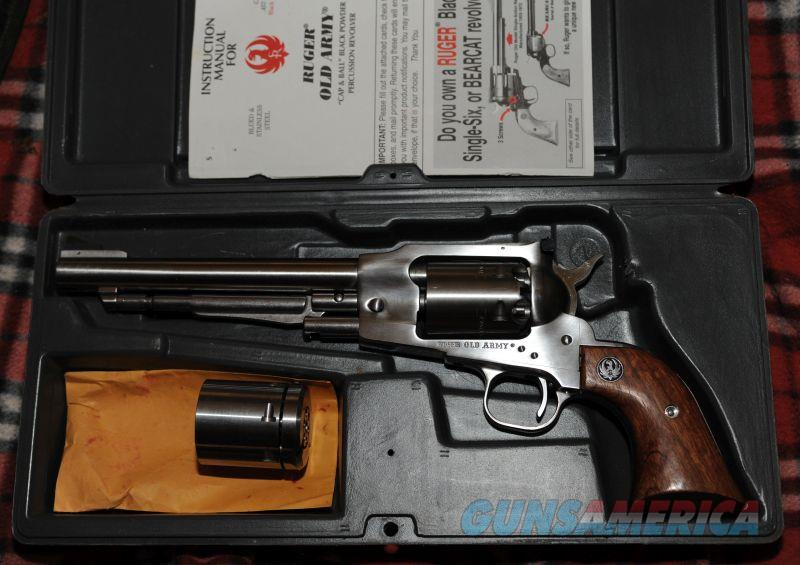 Beautiful Ruger Old Army never fired cond w/ Konverter  Guns > Pistols > Ruger Cap & Ball Revolvers