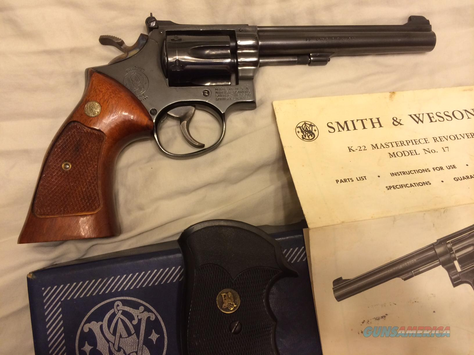 Smith & Wesson Model 17-3 Masterpiece .22LR w/ full target options  Guns > Pistols > Smith & Wesson Revolvers > Full Frame Revolver