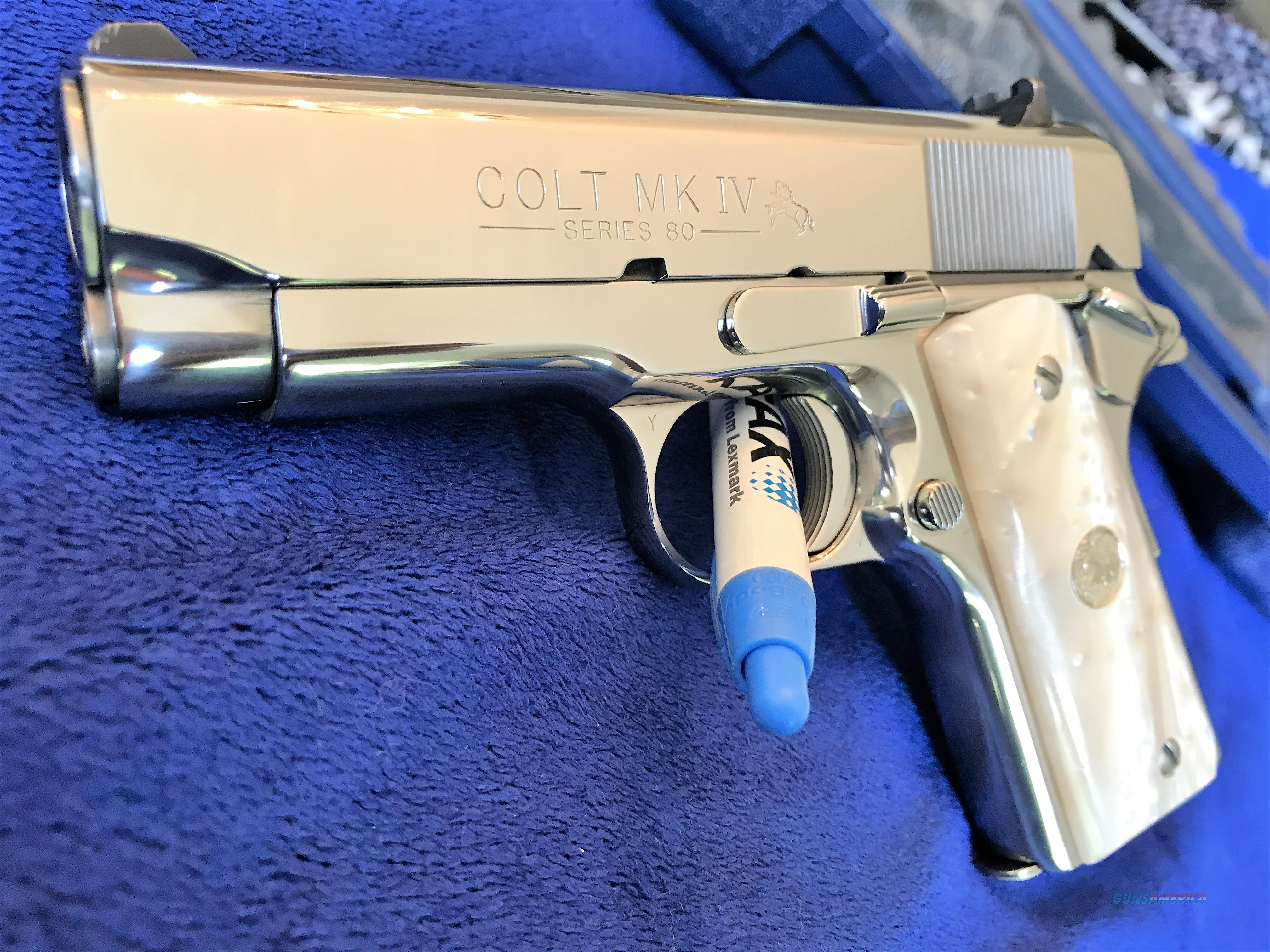 GORGEOUS Colt Officers Model .45 ACP BRIGHT STAINLESS Mirror like finish MINT,  box collectors  Guns > Pistols > Colt Automatic Pistols (1911 & Var)