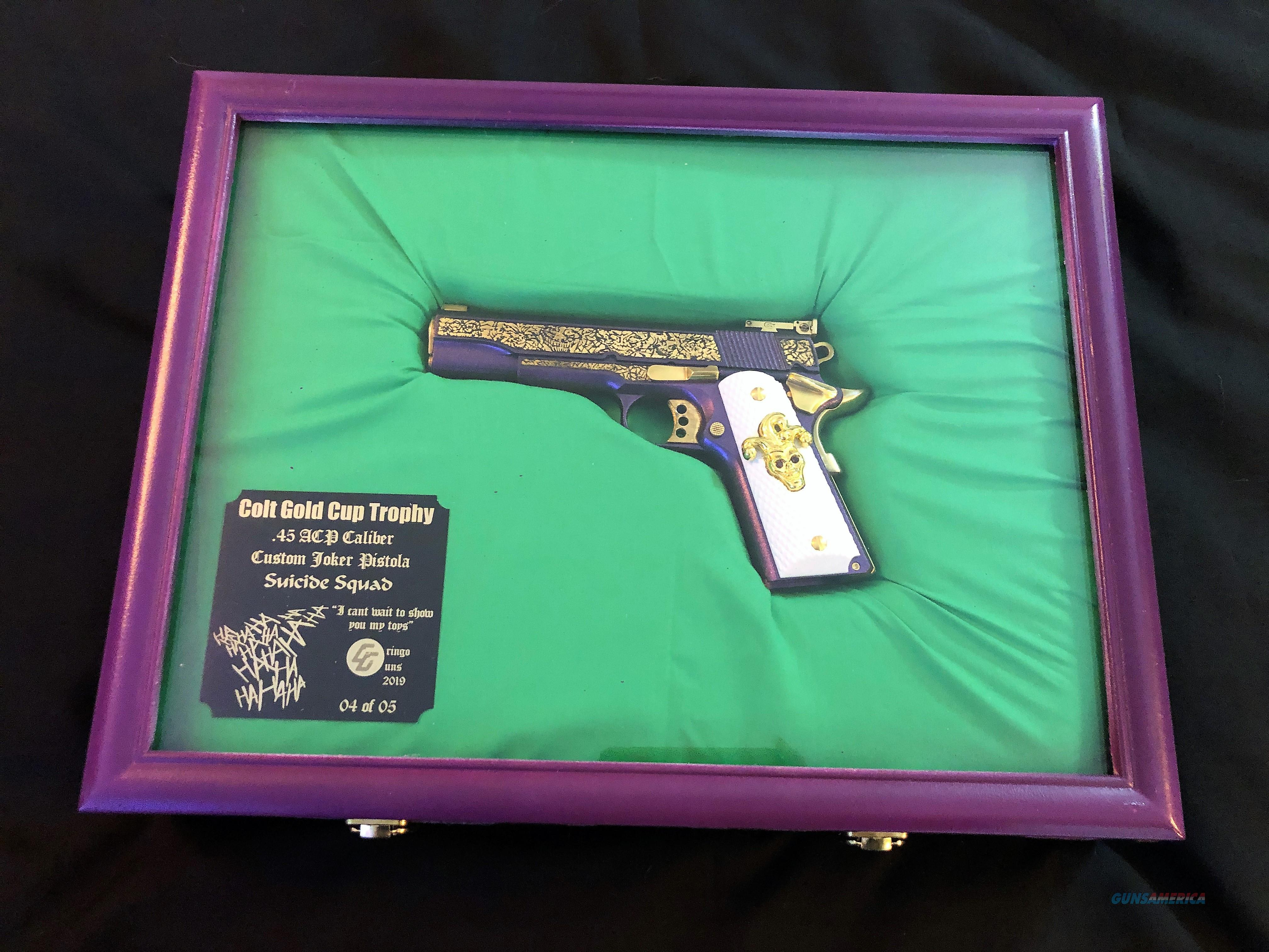 RARE Custom Colt Joker Gun from Suicide Squad movie EXACT REPLICA #4 of 5  Guns > Pistols > Colt Automatic Pistols (1911 & Var)