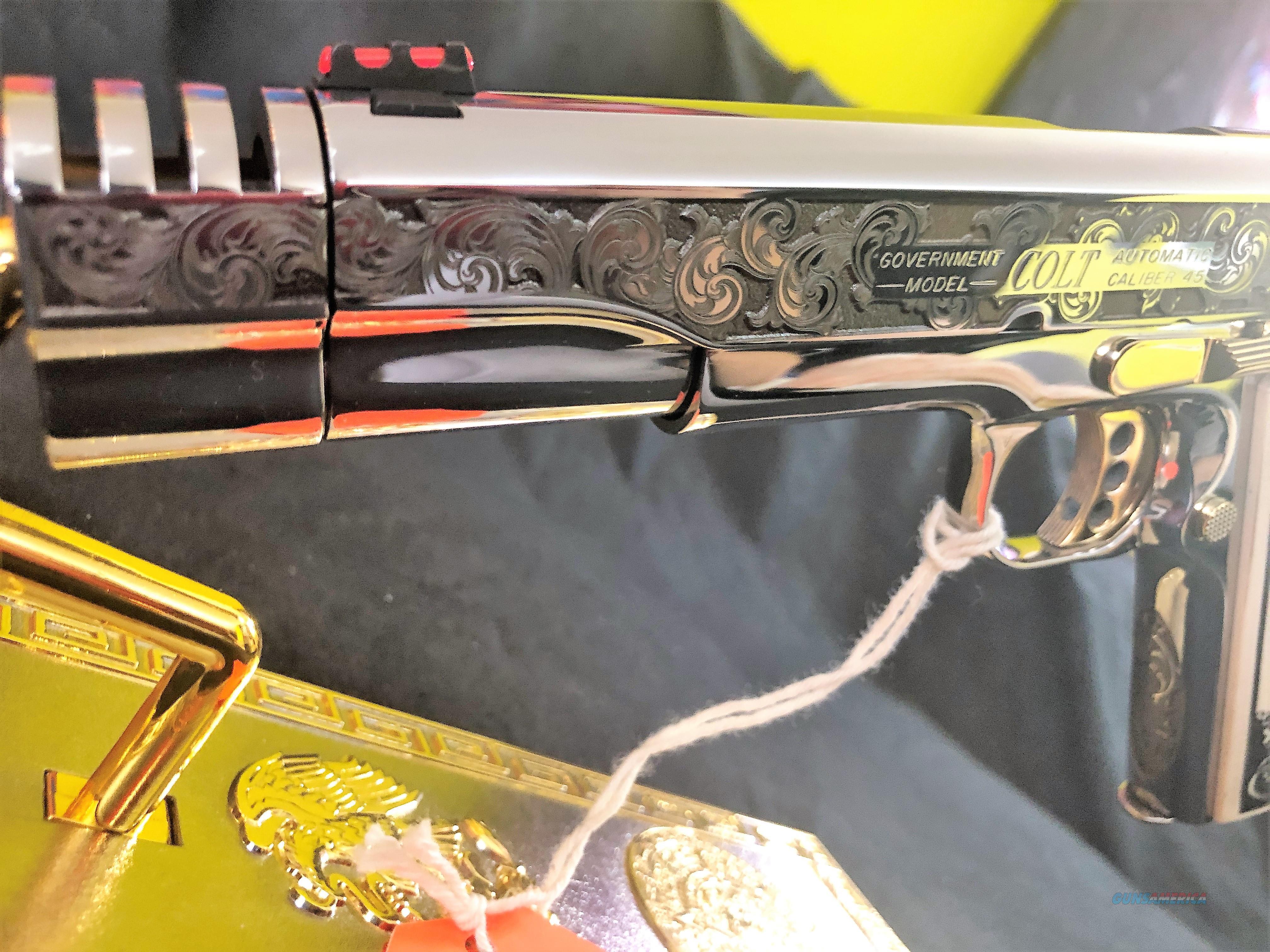 Custom Engraved 24k Colt Government 1911 .45 acp ONE OF A KIND  Guns > Pistols > Colt Automatic Pistols (1911 & Var)
