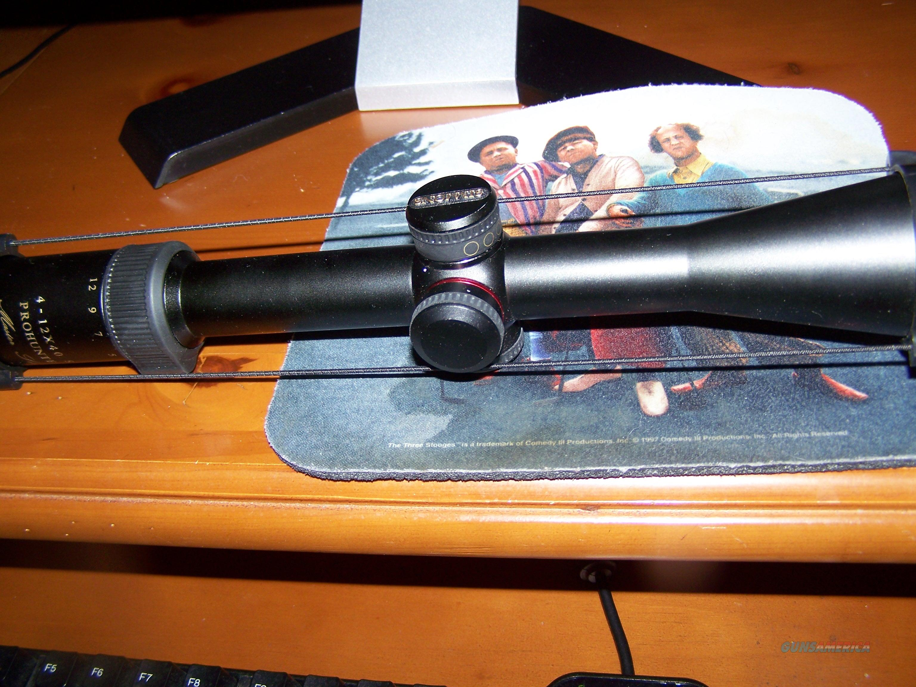 SIMMONS SIDE FOCUS 4X12X40 PRO HUNTER SCOPE.  Non-Guns > Scopes/Mounts/Rings & Optics > Rifle Scopes > Variable Focal Length