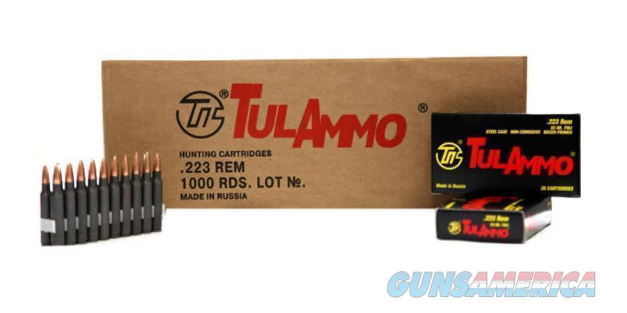 TulAmmo Ammunition 223 Remington 55 Grain Full Metal Jacket (Bi-Metal) Steel Case, Lot of 1000  Non-Guns > Ammunition