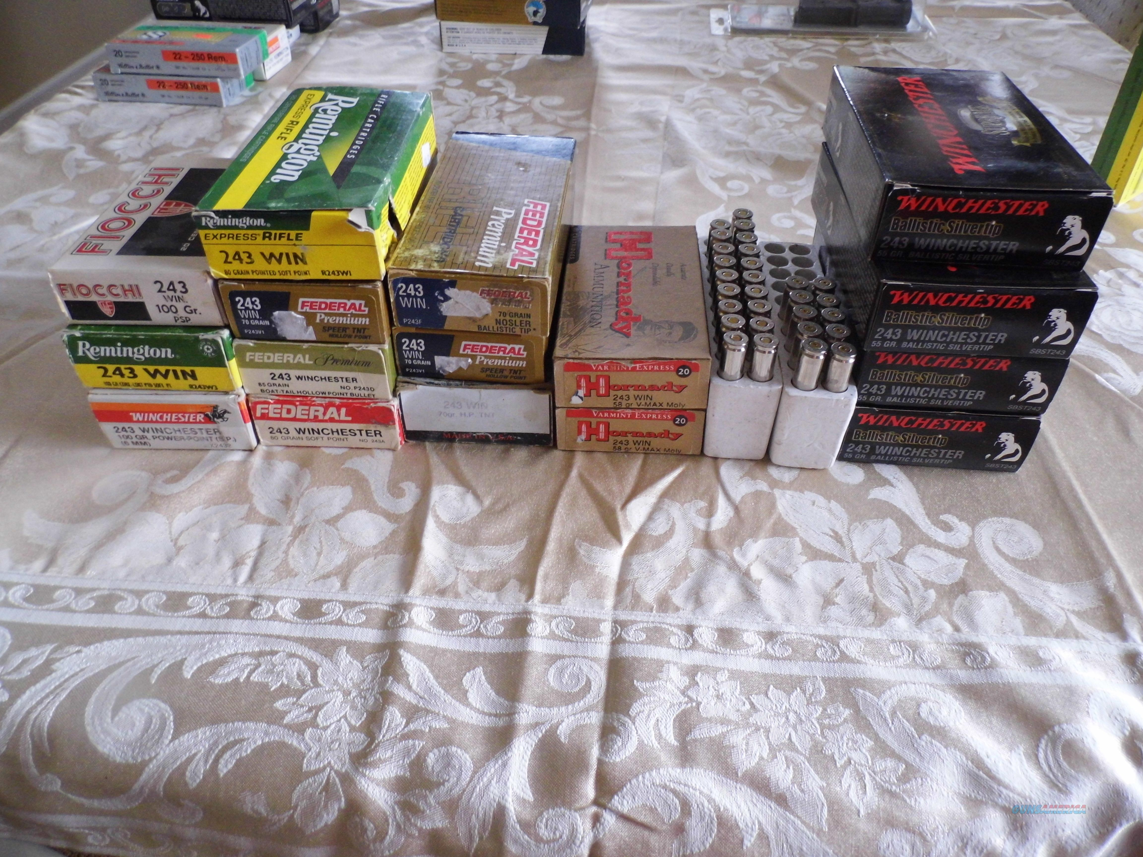 243 Winchester, 16 boxes, Sell all or one.  Non-Guns > Ammunition