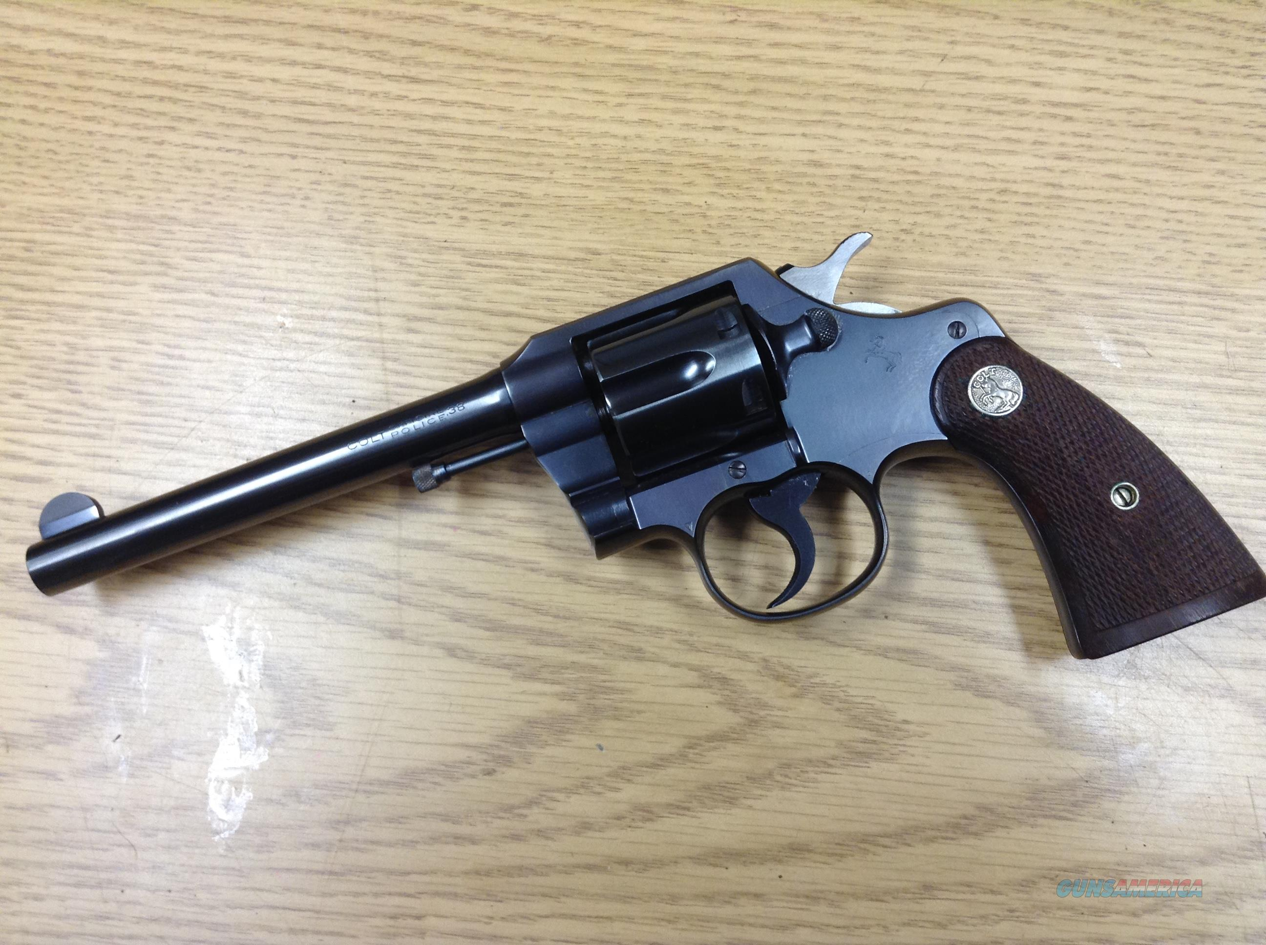 1934 Colt Official Police .38 - UNFIRED WITH BOX AND PAPERS  Guns > Pistols > Colt Double Action Revolvers- Pre-1945