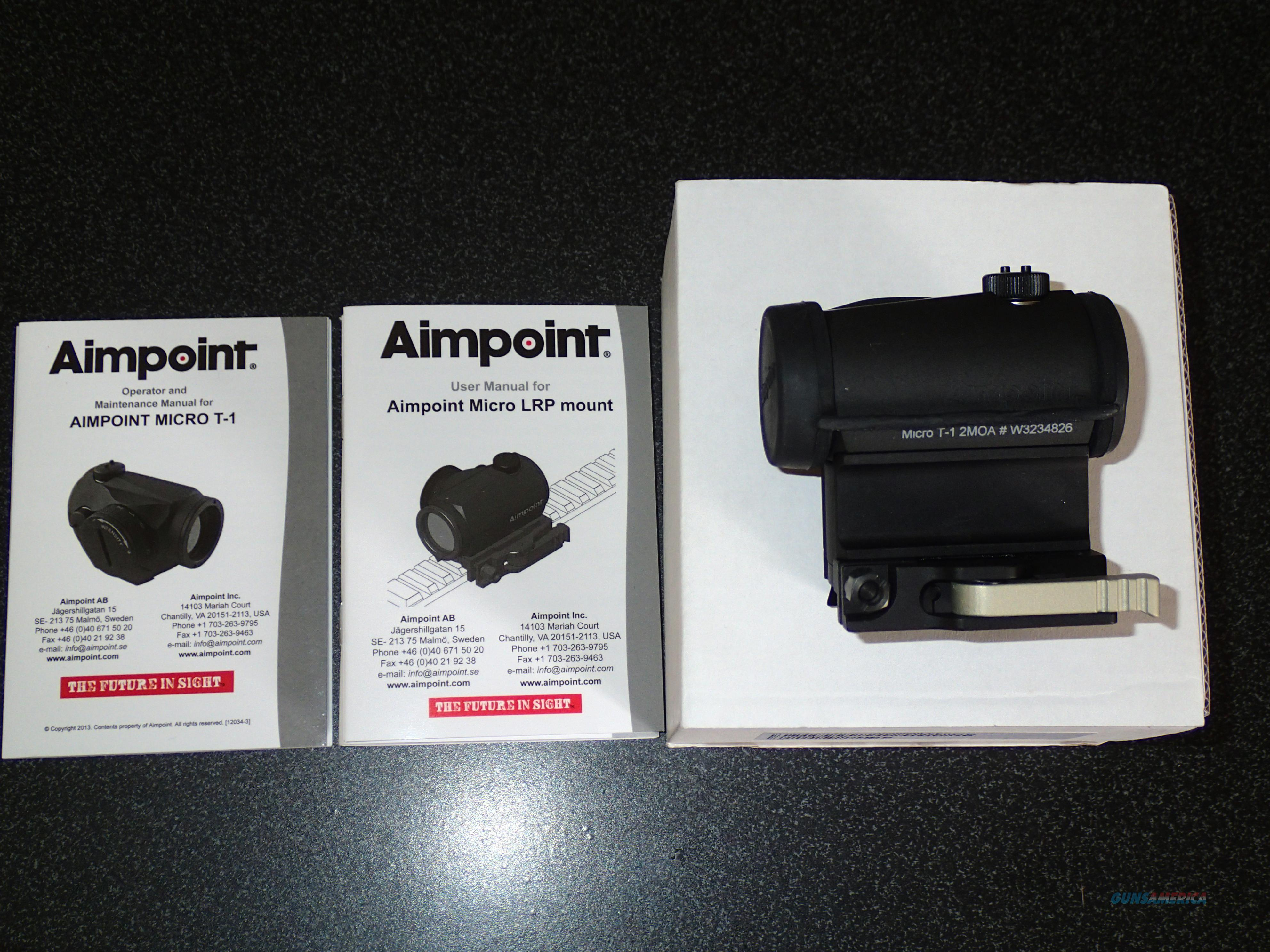 AIMPOINT T-1 W/LRP/SP.39MM mount  Non-Guns > Scopes/Mounts/Rings & Optics > Tactical Scopes > Red Dot