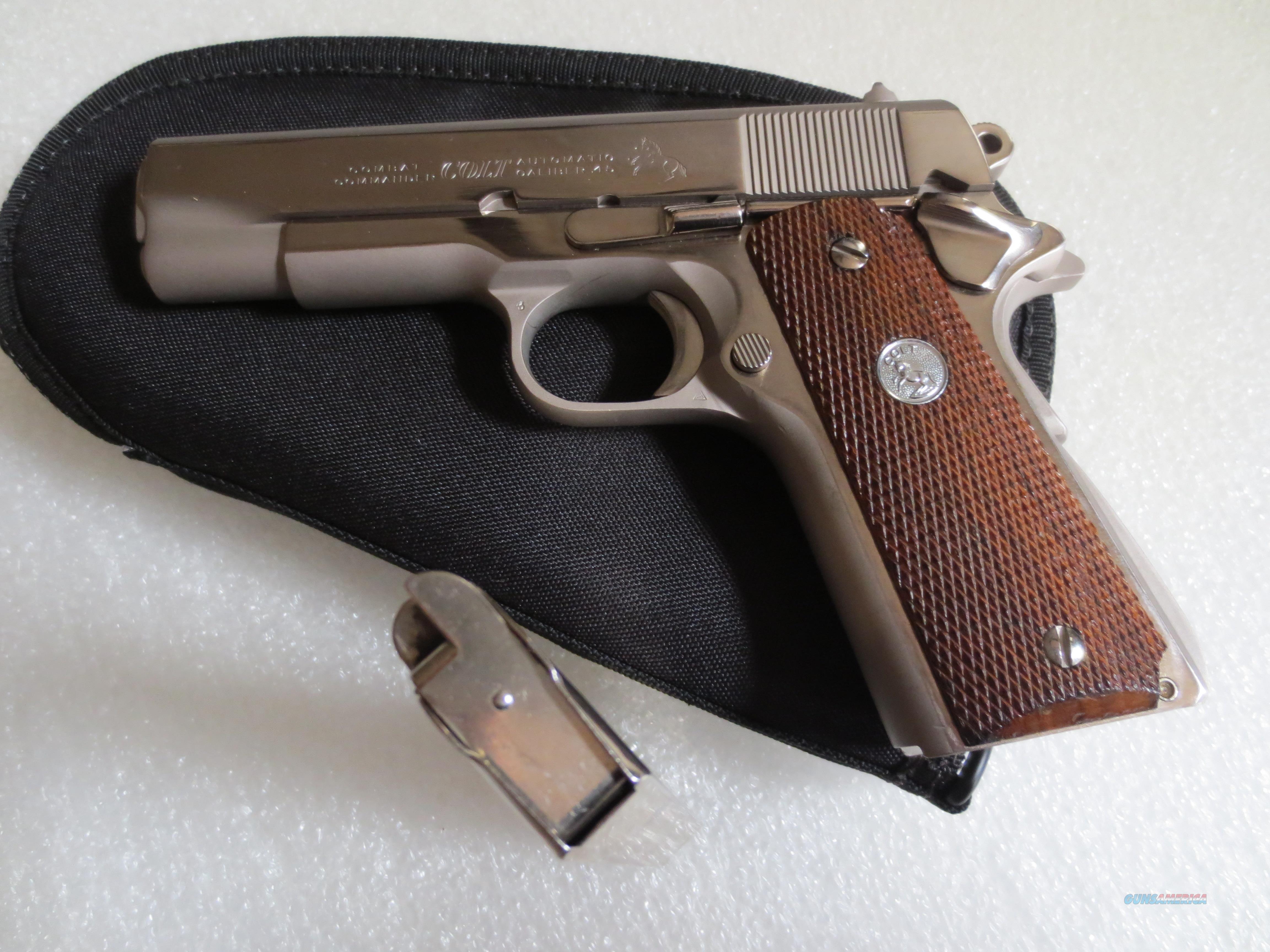 Colt Series 70 Nickle Commander  Guns > Pistols > Colt Automatic Pistols (1911 & Var)