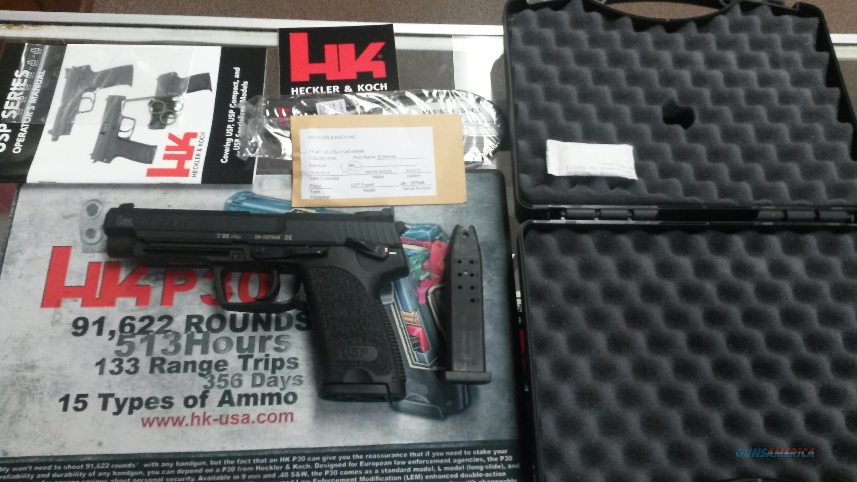 Heckler & Koch USP Expert 9mm w/out Jet Funnel, 2 Mags. $1100 or best offer!  Guns > Pistols > Heckler & Koch Pistols > Polymer Frame