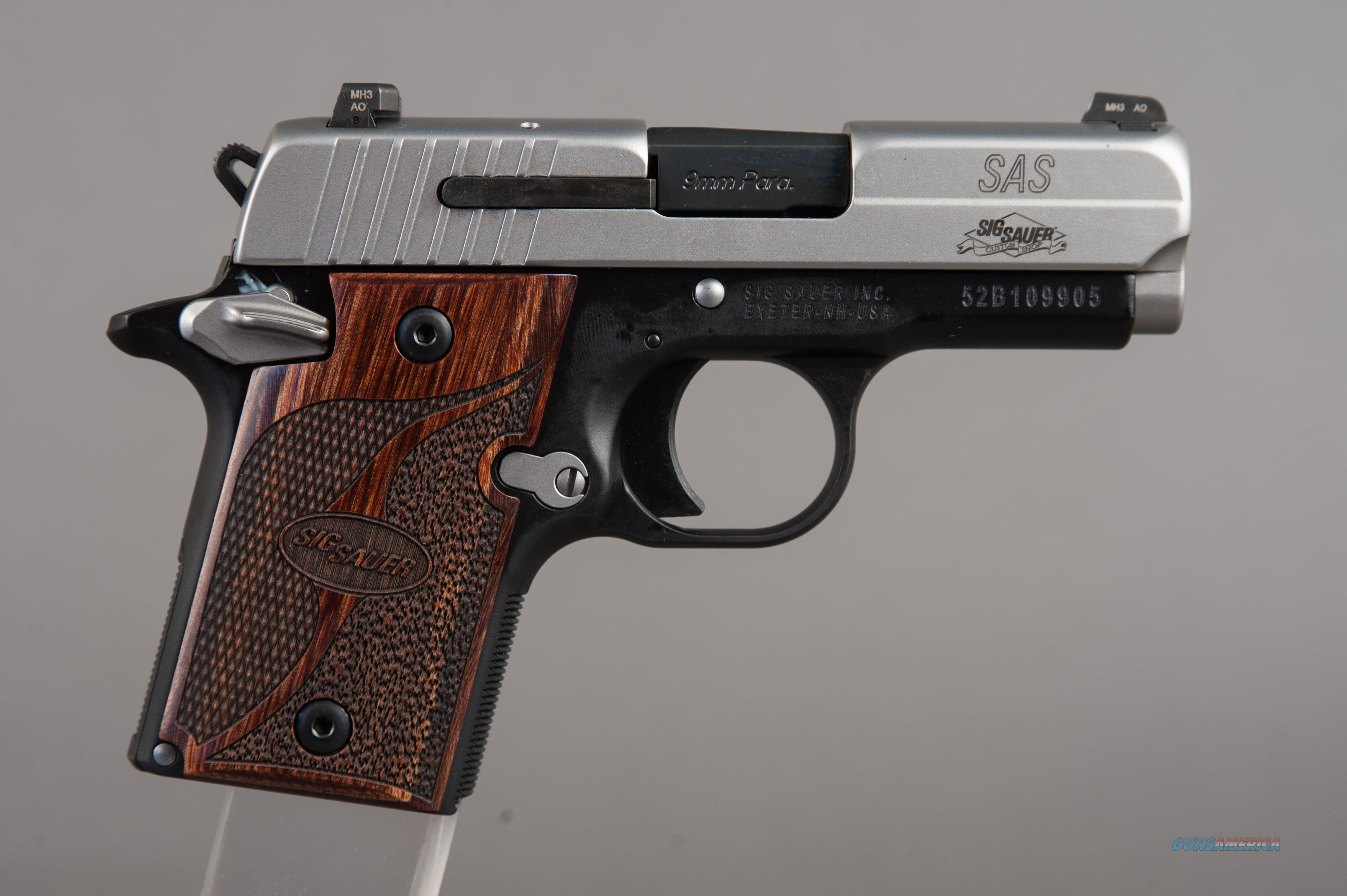 Sig Sauer P938 SAS 2-Tone 9MM Wood Grips  Guns > Pistols > Sig - Sauer/Sigarms Pistols > Other