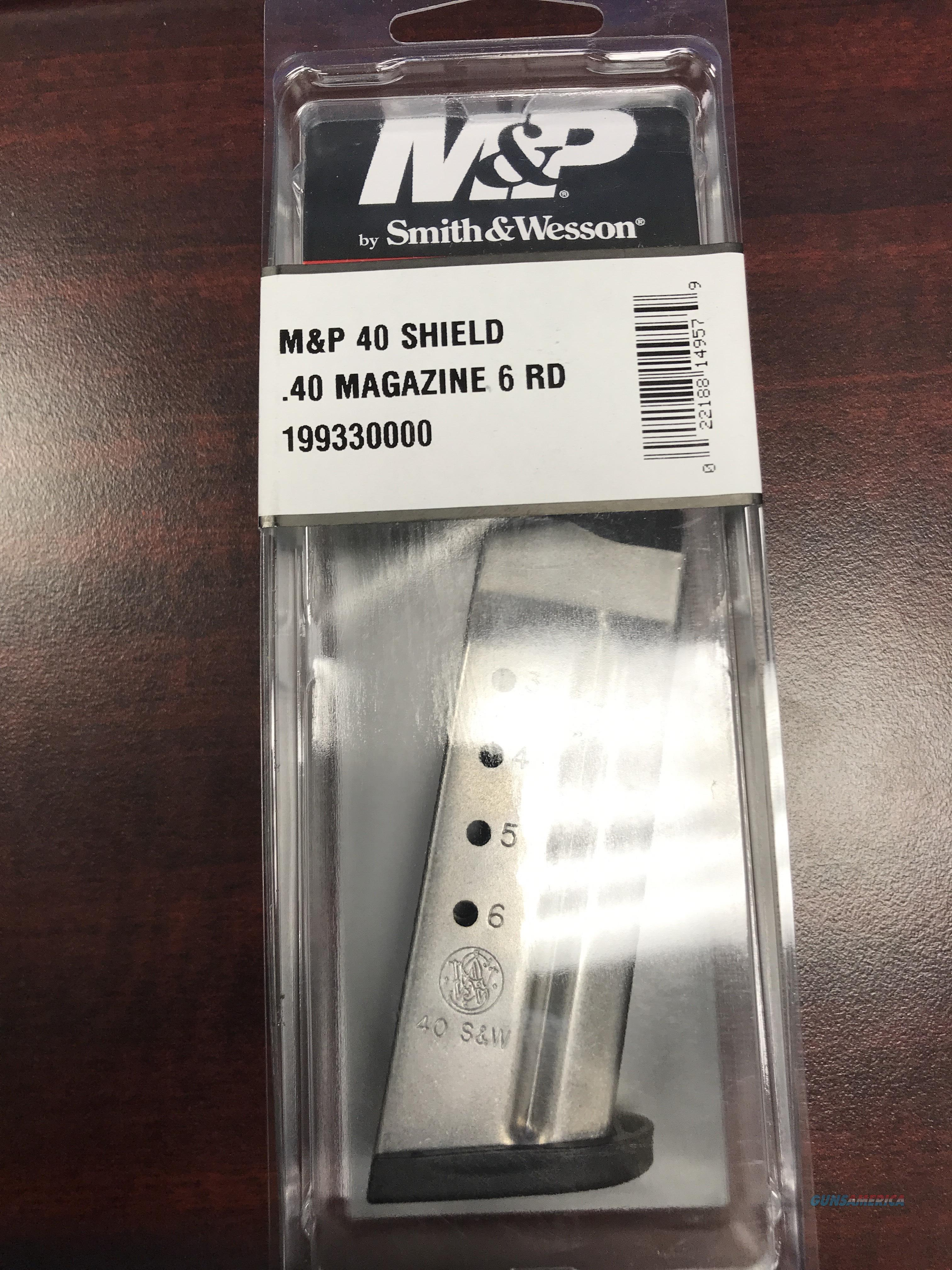 SMITH & WESSON SHIELD 40 S&W 6RD MAG FREE SHIPPING  Non-Guns > Magazines & Clips > Pistol Magazines > Smith & Wesson