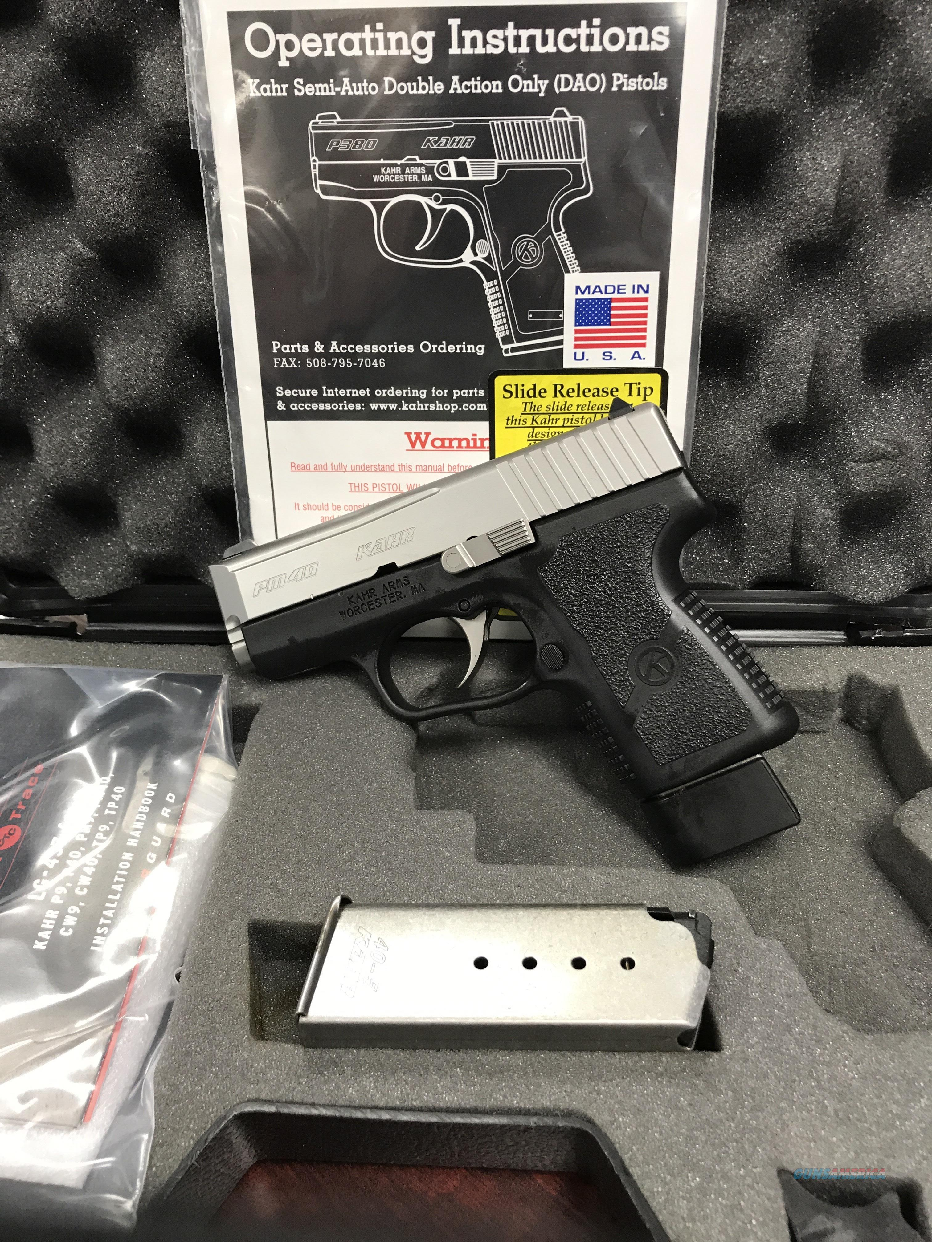 KAHR PM40 WITH CRIMSON TRACE LASER!   FREE AMMO AND FREE SHIPPING  Guns > Pistols > Kahr Pistols