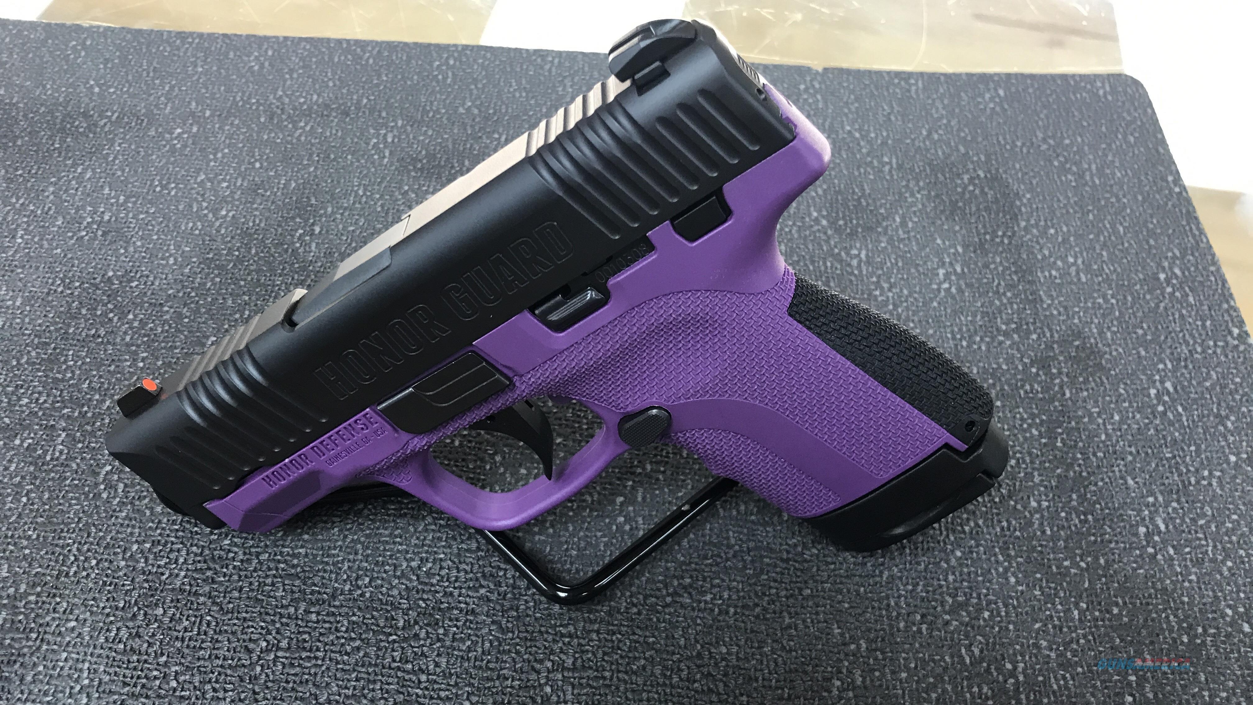 HONOR GUARD (PURPLE) 9MM    FREE SHIPPING  Guns > Pistols > Honor Defense Pistols