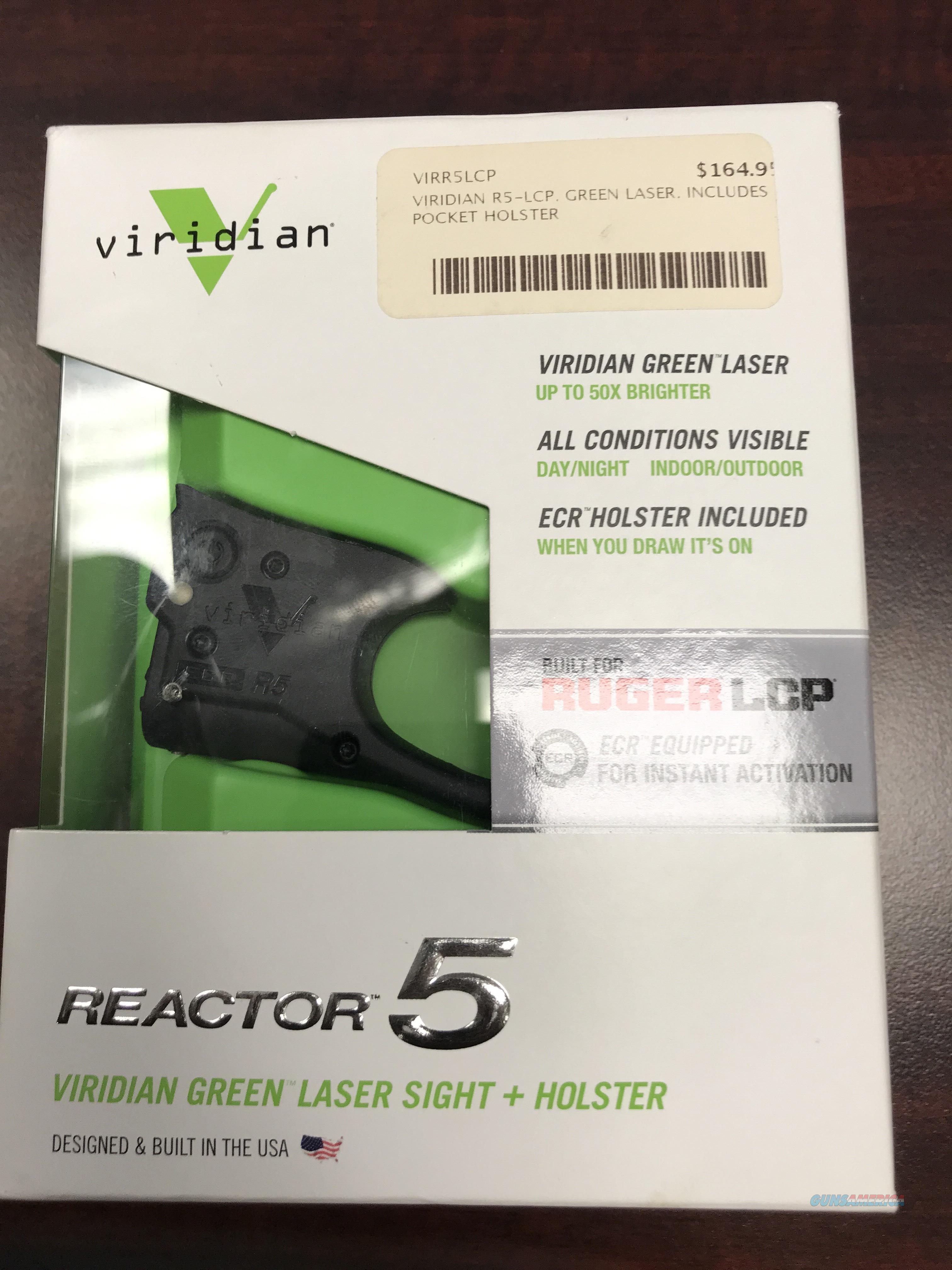 VIRIDIAN R5 GREEN LASER FOR RUGER LCP   FREE SHIPPING  Non-Guns > Lights > Other