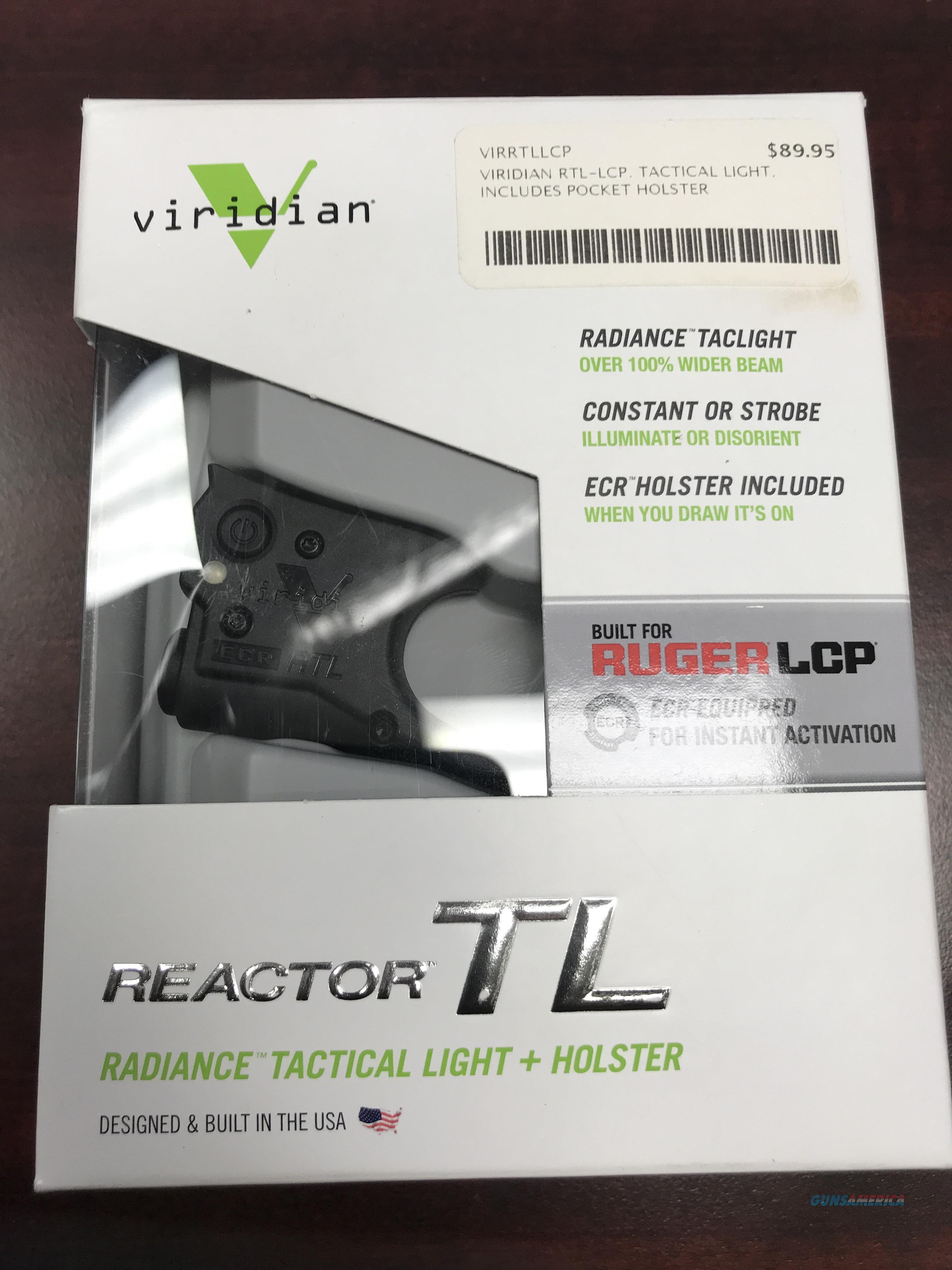 VIRIDIAN RTL FOR RUGER LCP  Non-Guns > Lights > Other