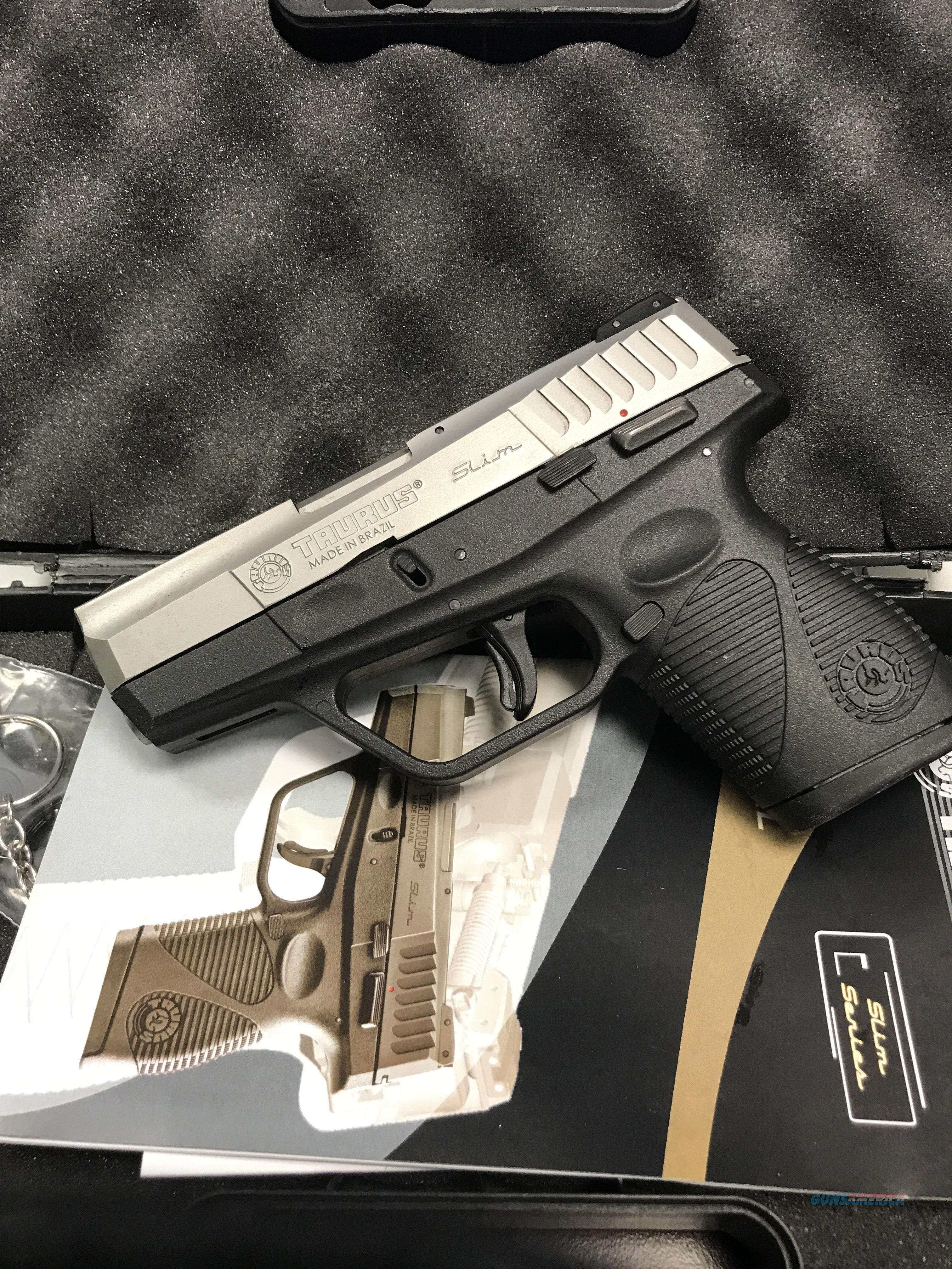 TAURUS SLIM 40S&W       FREE SHIPPING  Guns > Pistols > Taurus Pistols > Semi Auto Pistols > Polymer Frame