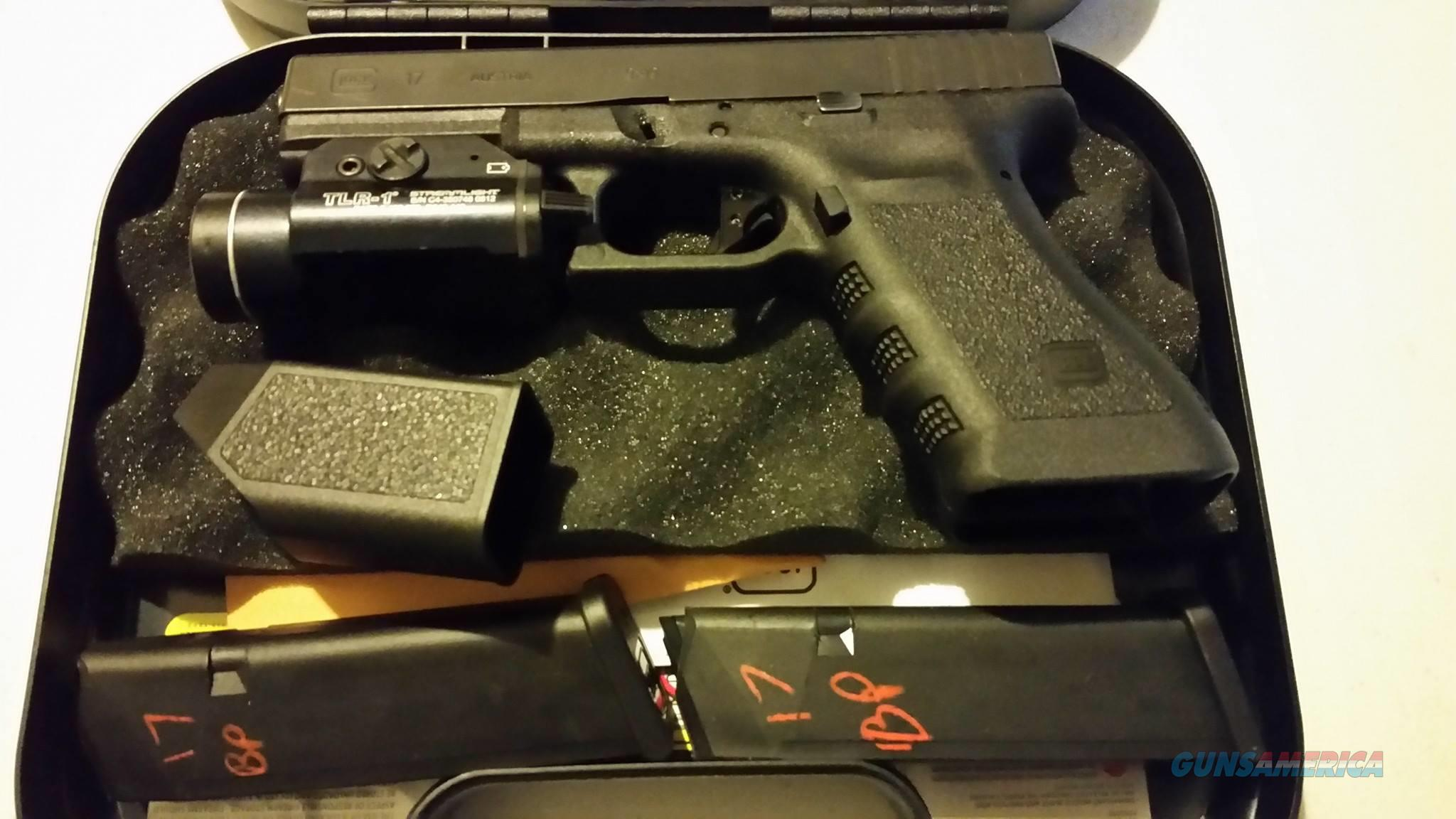 FREE SHIP/NO CC FEES, USED GLOCK 17 GEN 3 9MM FS W/EXTRAS  Guns > Pistols > Glock Pistols > 17
