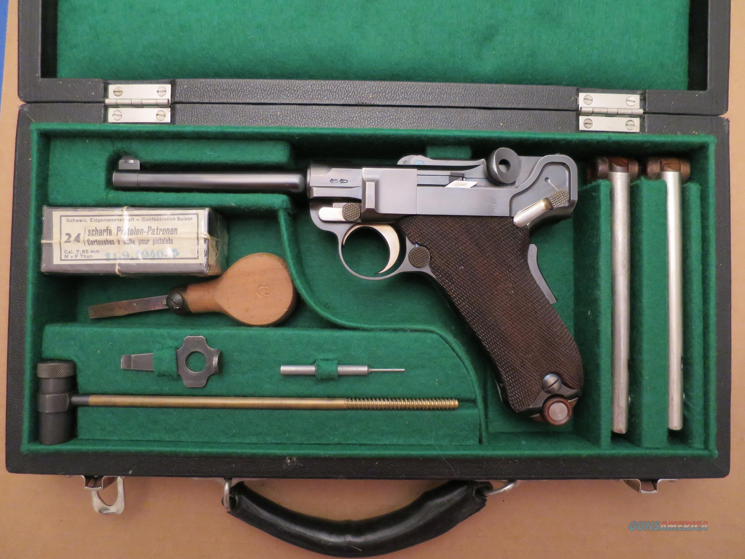 1900 Swiss Luger in Retailers Case with accessories & extra mags  Guns > Pistols > Luger Pistols