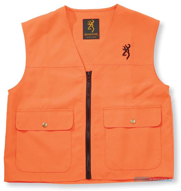 Browning Junior Safety Vest Blaze Orange Large  Non-Guns > Hunting Clothing and Equipment > Clothing > Blaze Orange