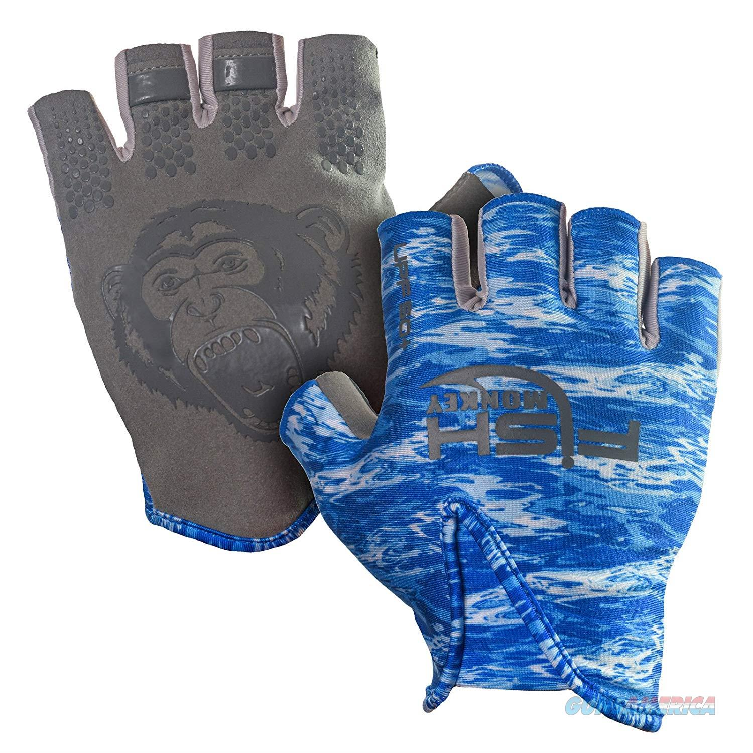 Fish Monkey Stubby Guide Glove Blue MD  Non-Guns > Hunting Clothing and Equipment > Clothing > Gloves