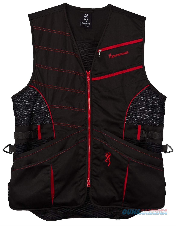 Browning Ace Shooting Vest Black Red LG  Non-Guns > Shotgun Sports > Vests/Jackets
