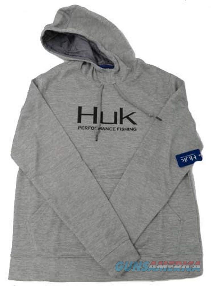 Huk Fleece Hull Hoodie Grey XL NEW  Non-Guns > Hunting Clothing and Equipment > Clothing > Shirts