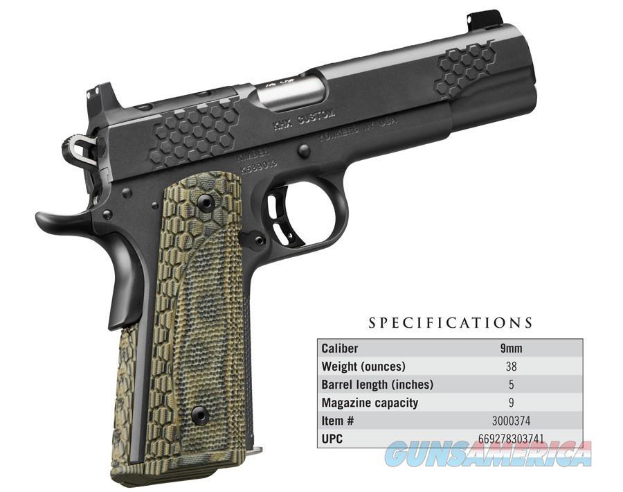 "Kimber KHX Custom OR 9 MM 3000374 NIB 5"" BBL 9MM  Guns > Pistols > Kimber of America Pistols > 1911"