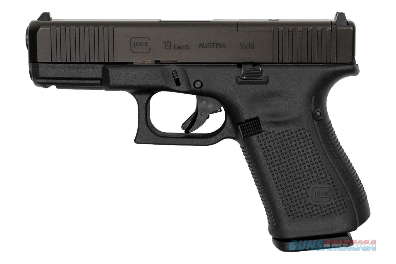 """Glock 19 Gen5 MOS FS 9 MM 4""""BBL PA195S203MOS NIB  Guns > Pistols > Glock Pistols > 19/19X"""