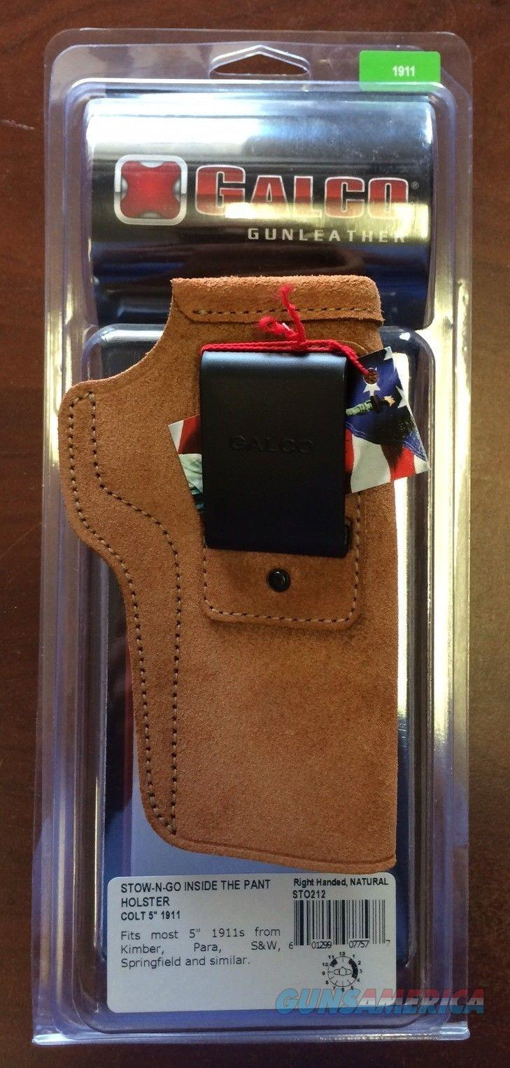 """Galco Stow-N-Go Holster for 1911 5"""" Barrel, STO212  Non-Guns > Holsters and Gunleather > Concealed Carry"""