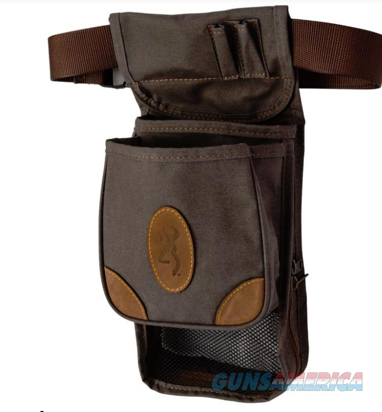 Browning Lona Deluxe Shell Pouch 121388693 BRN  Non-Guns > Hunting Clothing and Equipment > Ammo Pouches/Holders/Shell Bags