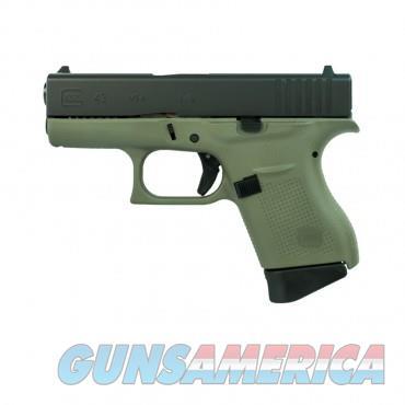 """Glock 43 UI4350201BFG 9 MM 3.39"""" BBL NIB 9MM Green  Guns > Pistols > Glock Pistols > 43/43X"""