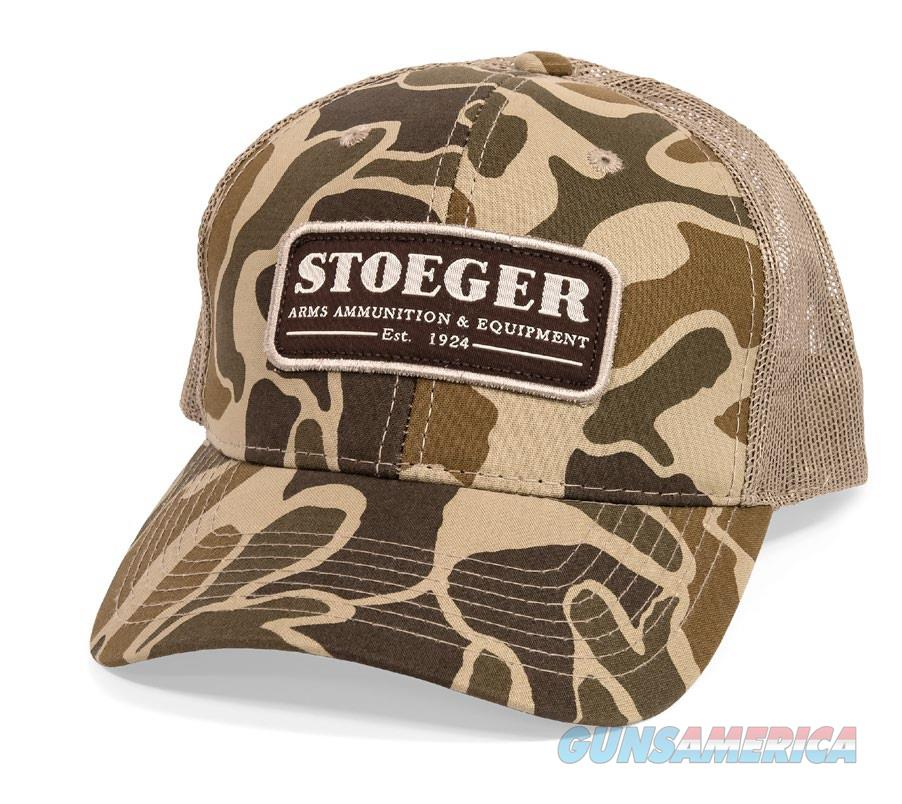 Stoeger Logo Trucker Cap Hat Retro Camo  Non-Guns > Hunting Clothing and Equipment > Clothing > Hats